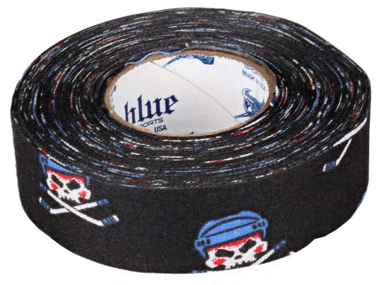 Hokejová páska BLUE Sport 18 m x 2,4 cm, netrhací - Piráti