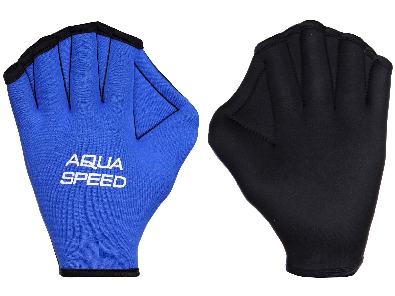 Plavecké rukavice Paddle Neo modro-černé - vel. S