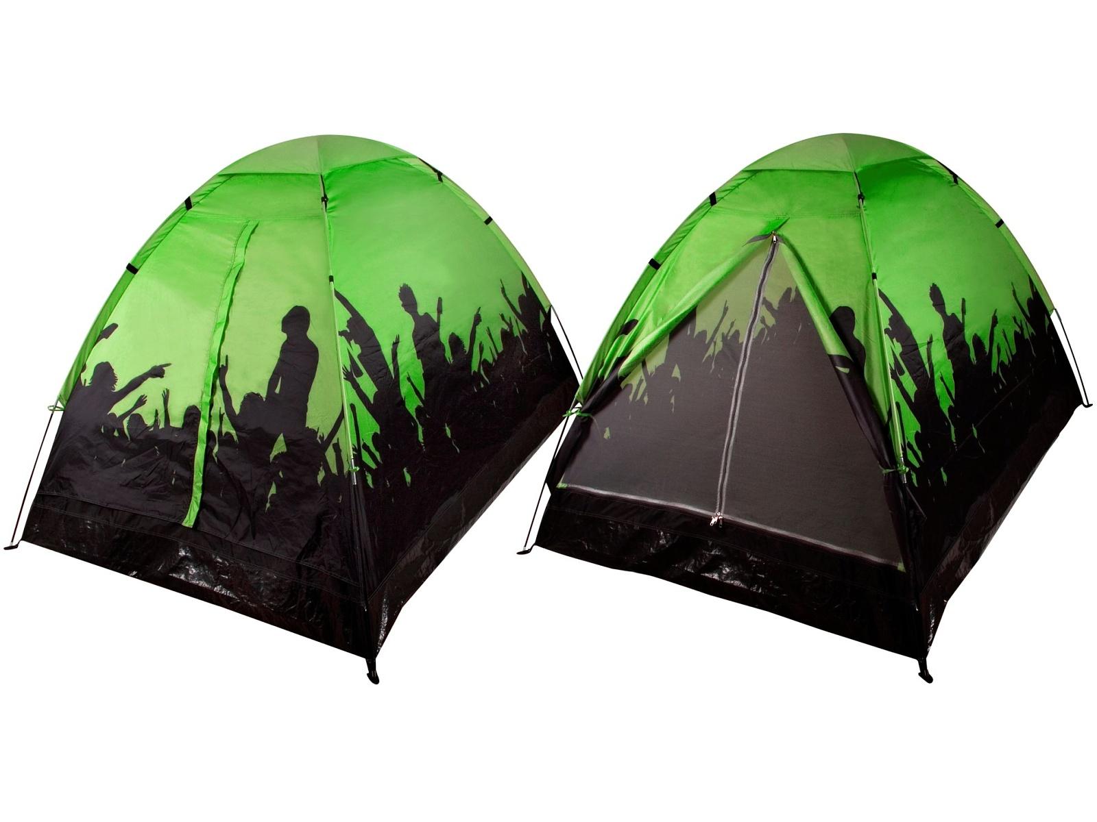 Stan Festival pro 2 osoby, jednovrstvý - zelený