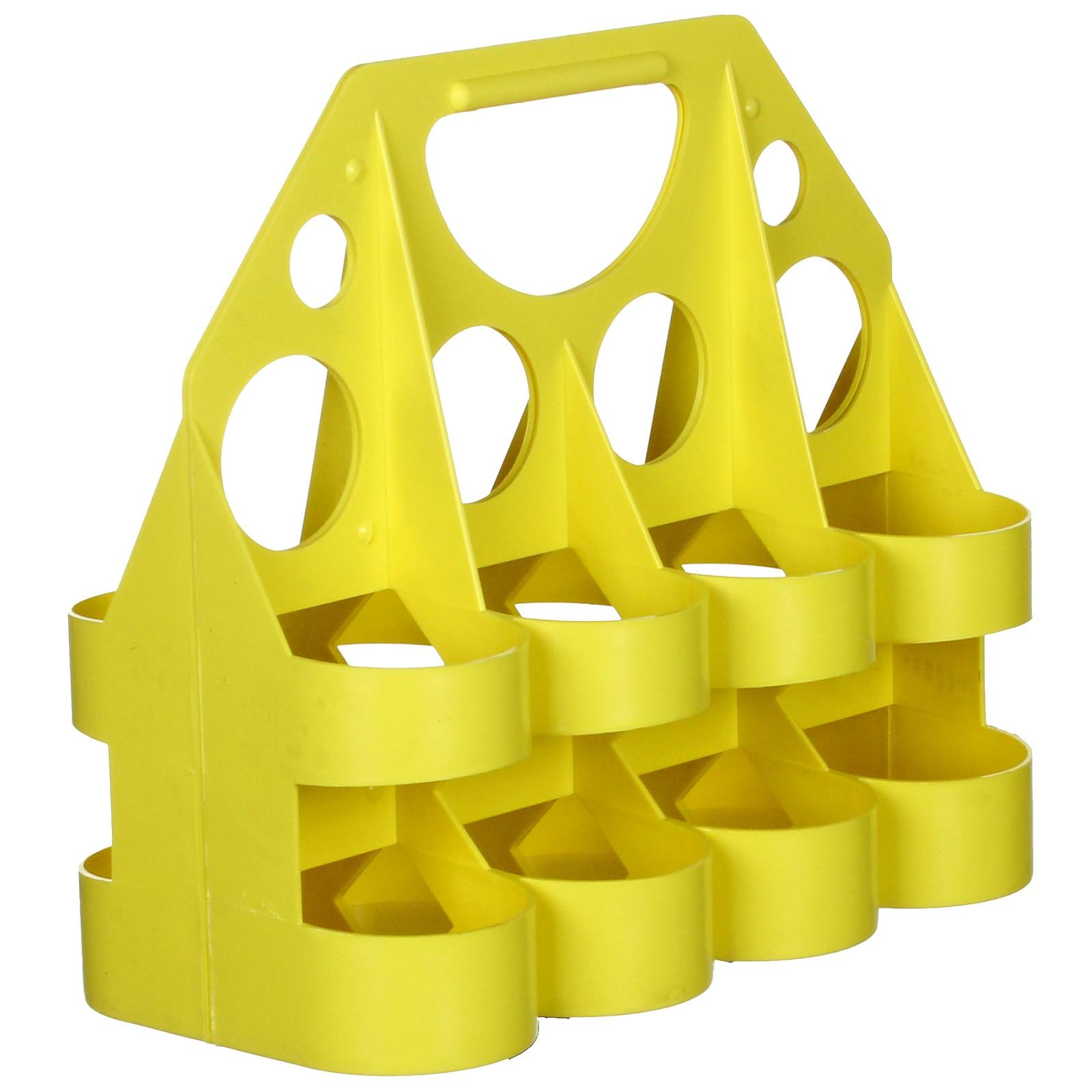 Nosič pro 8 ks lahví, plastový - žlutý