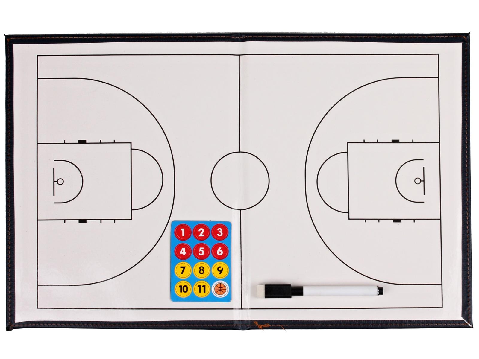 Basketbalová trenérská tabule, magnetická