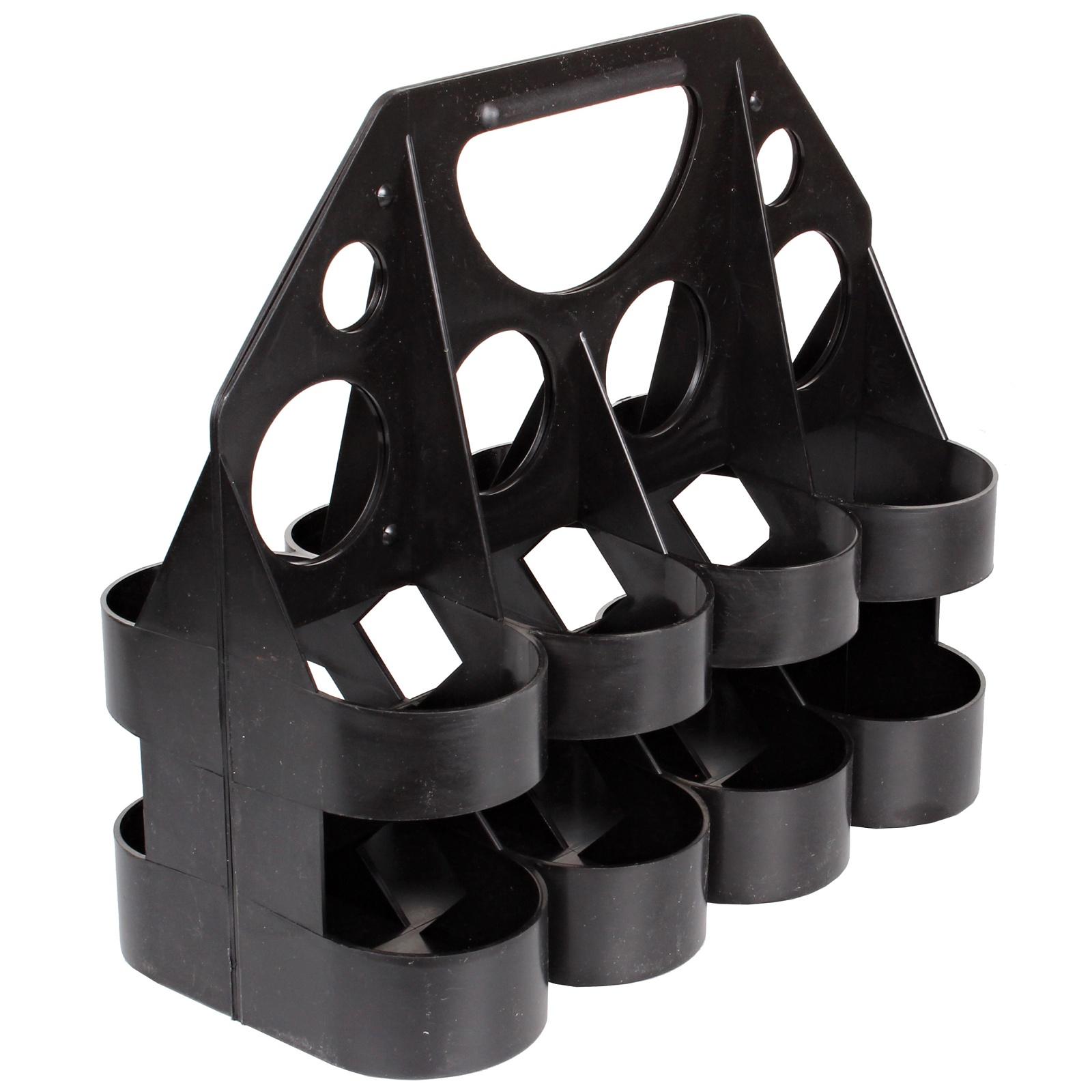Nosič pro 8 ks lahví, plastový - černý