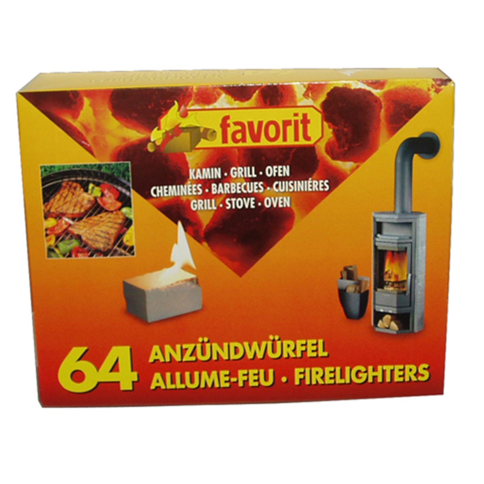 Pevný podpalovač FAVORIT 64 ks