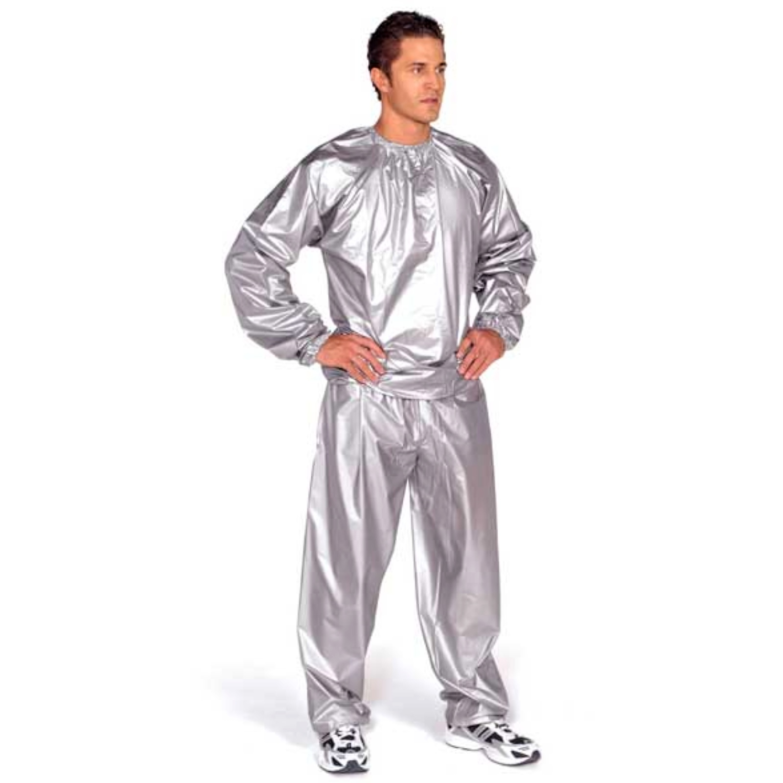 Sauna oblek EVERLAST PVC stříbrný - vel. L/XL