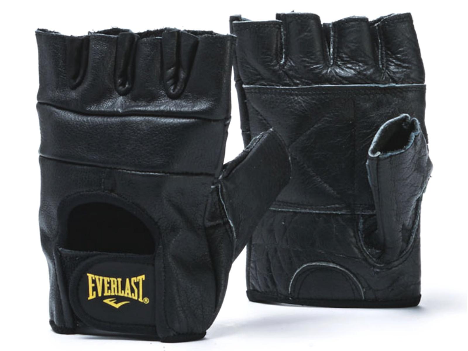 Kožené rukavice do posilovny EVERLAST - vel. M