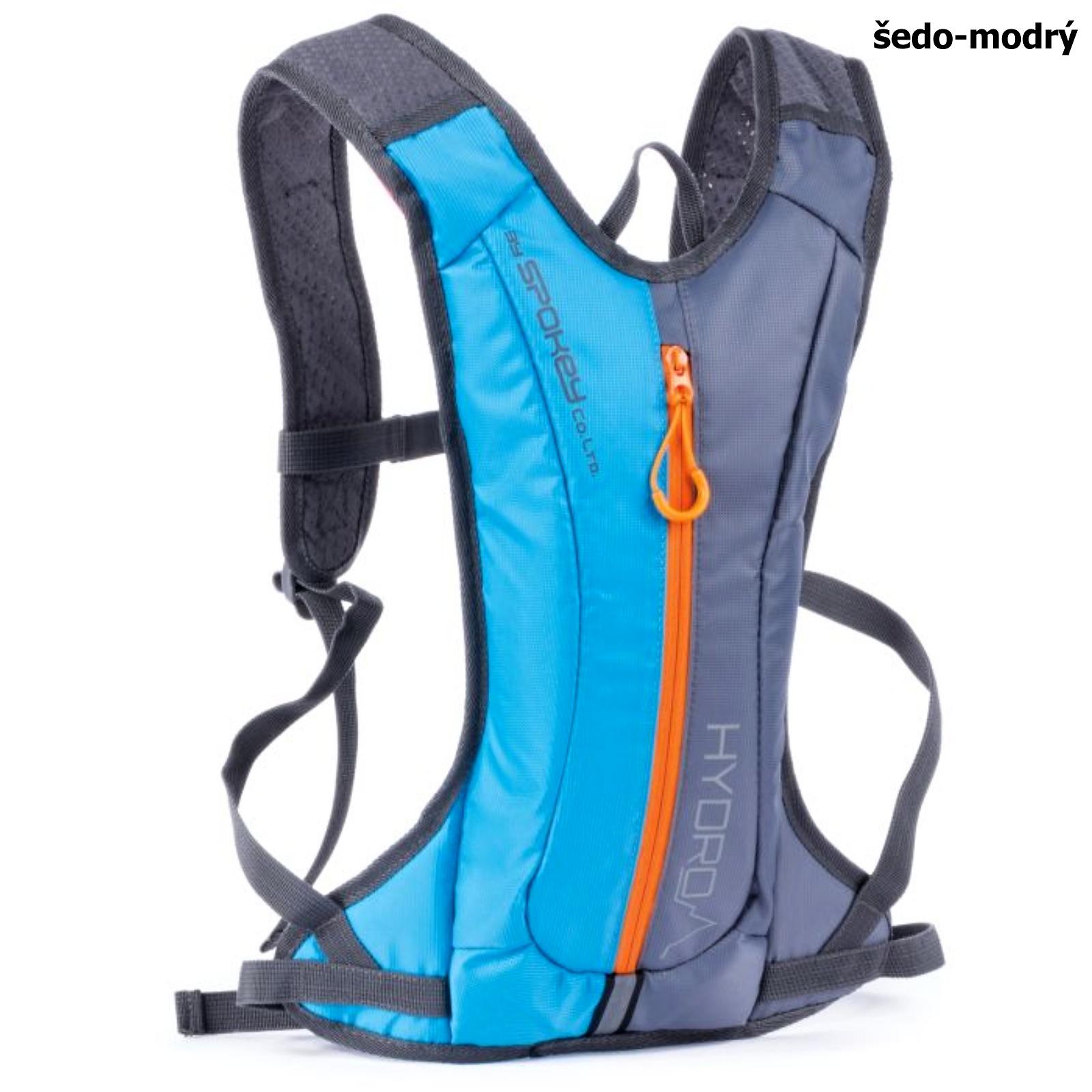 Batoh SPOKEY Hydro 2L šedo-modrý, cyklistický