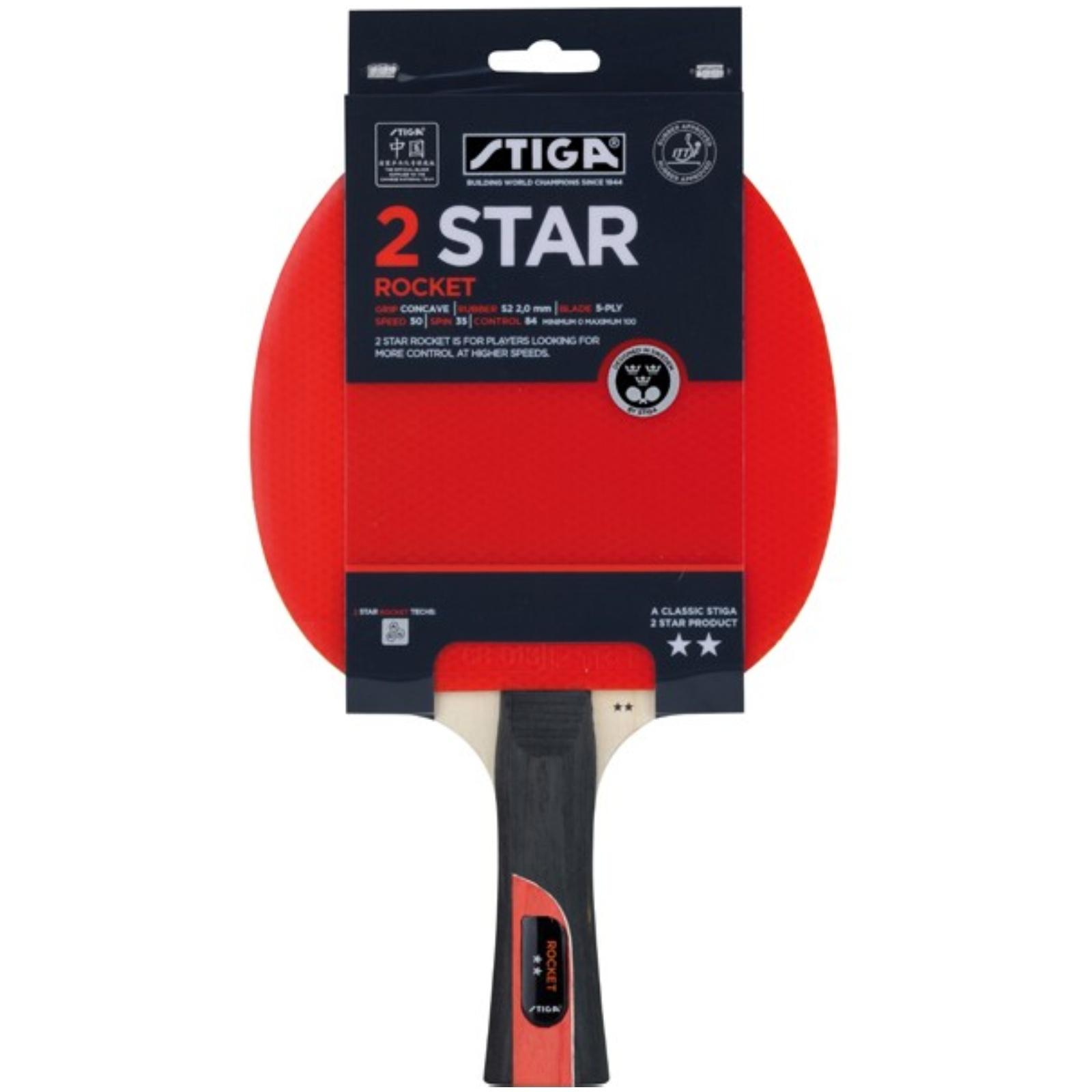 Pálka na stolní tenis STIGA 2 Star Rocket