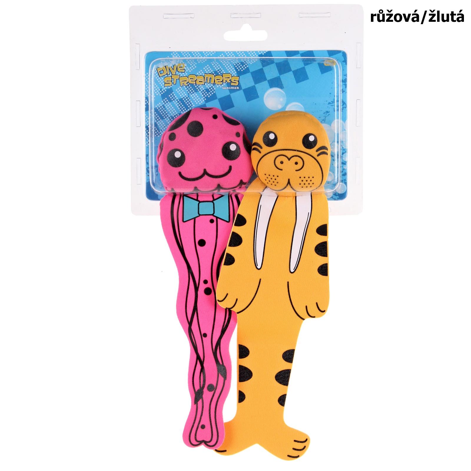 Potápěcí bomby WAIMEA Animal růžová/žlutá, sada 2ks