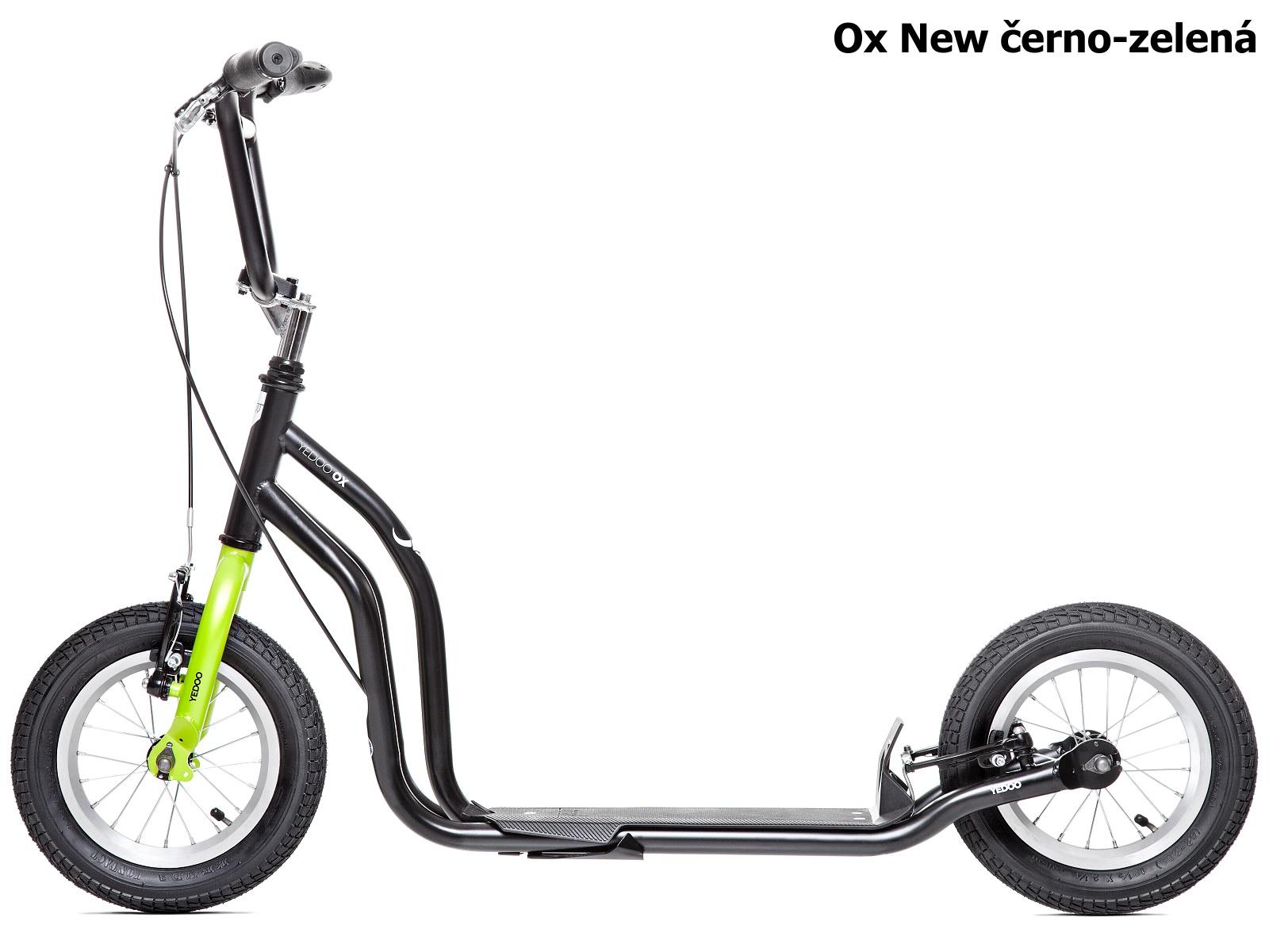 Koloběžka YEDOO Ox New 12-12 černo-zelená