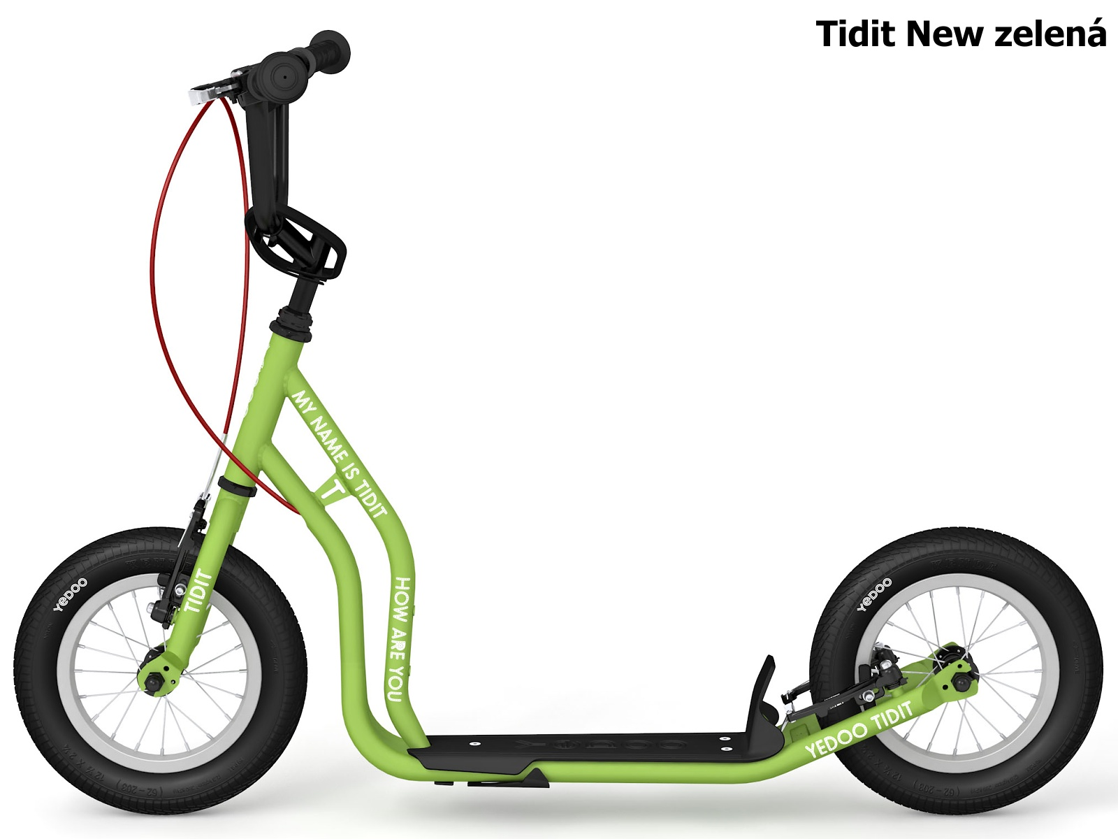 Koloběžka YEDOO Tidit New 12-12 zelená
