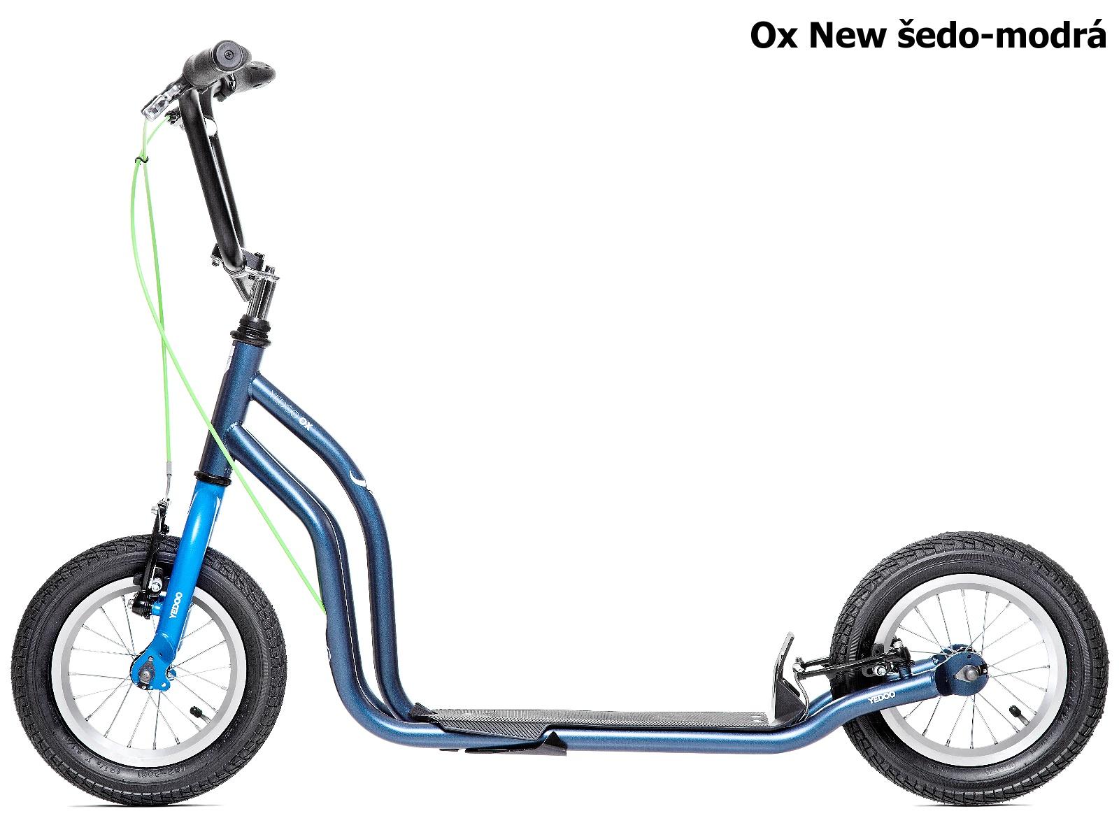 Koloběžka YEDOO Ox New 12-12 šedo-modrá