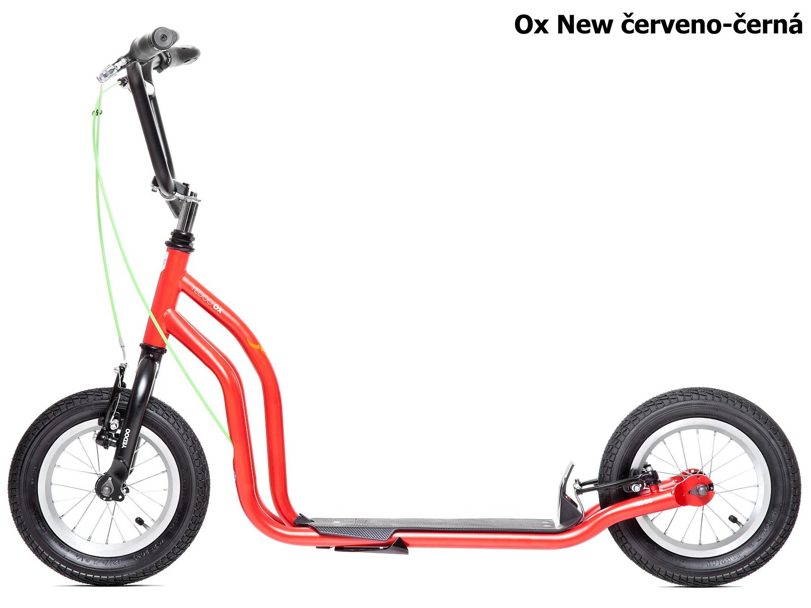 Koloběžka YEDOO Ox New 12-12 červeno-černá