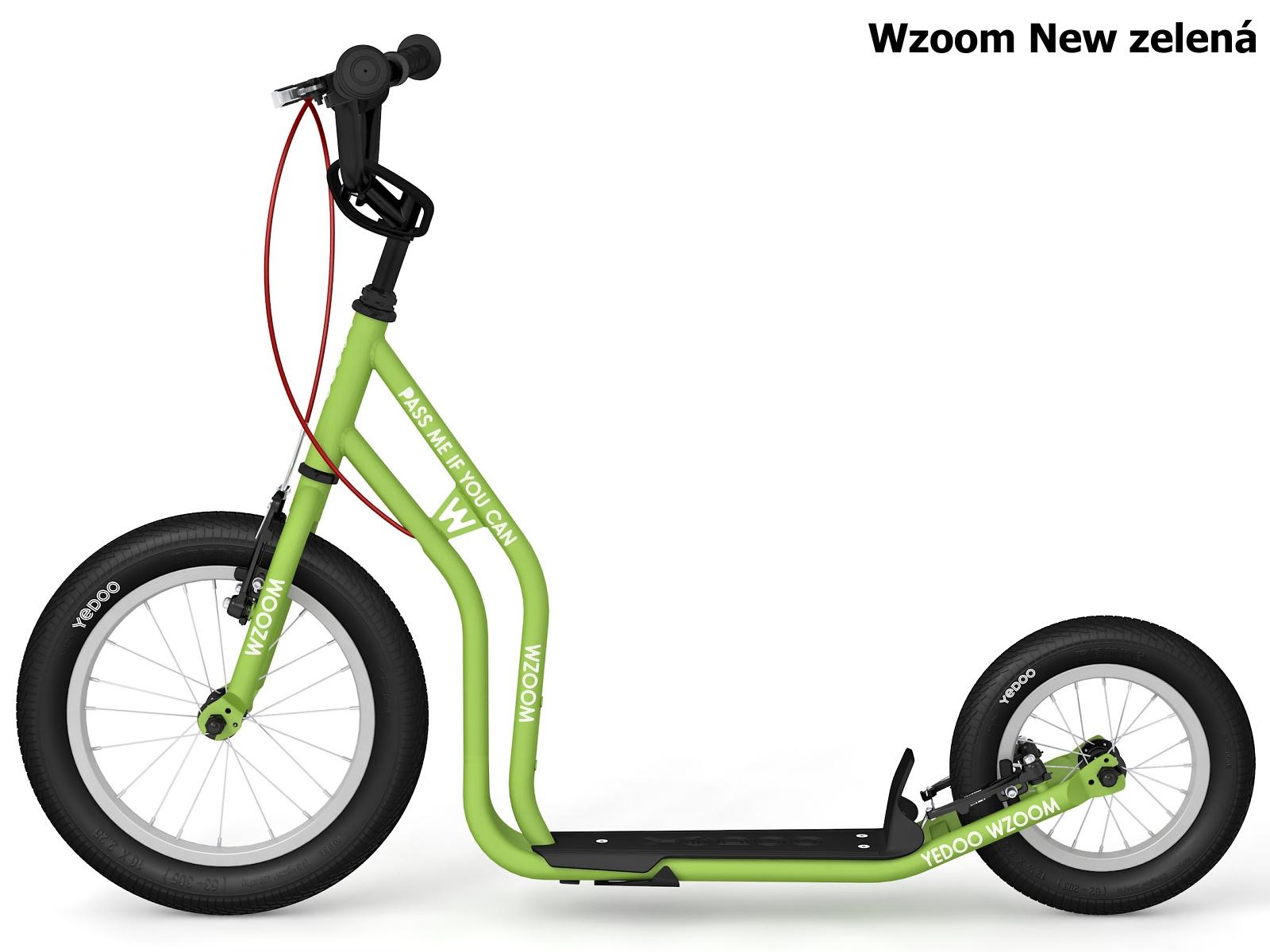 Koloběžka YEDOO Wzoom New 16-12 zelená