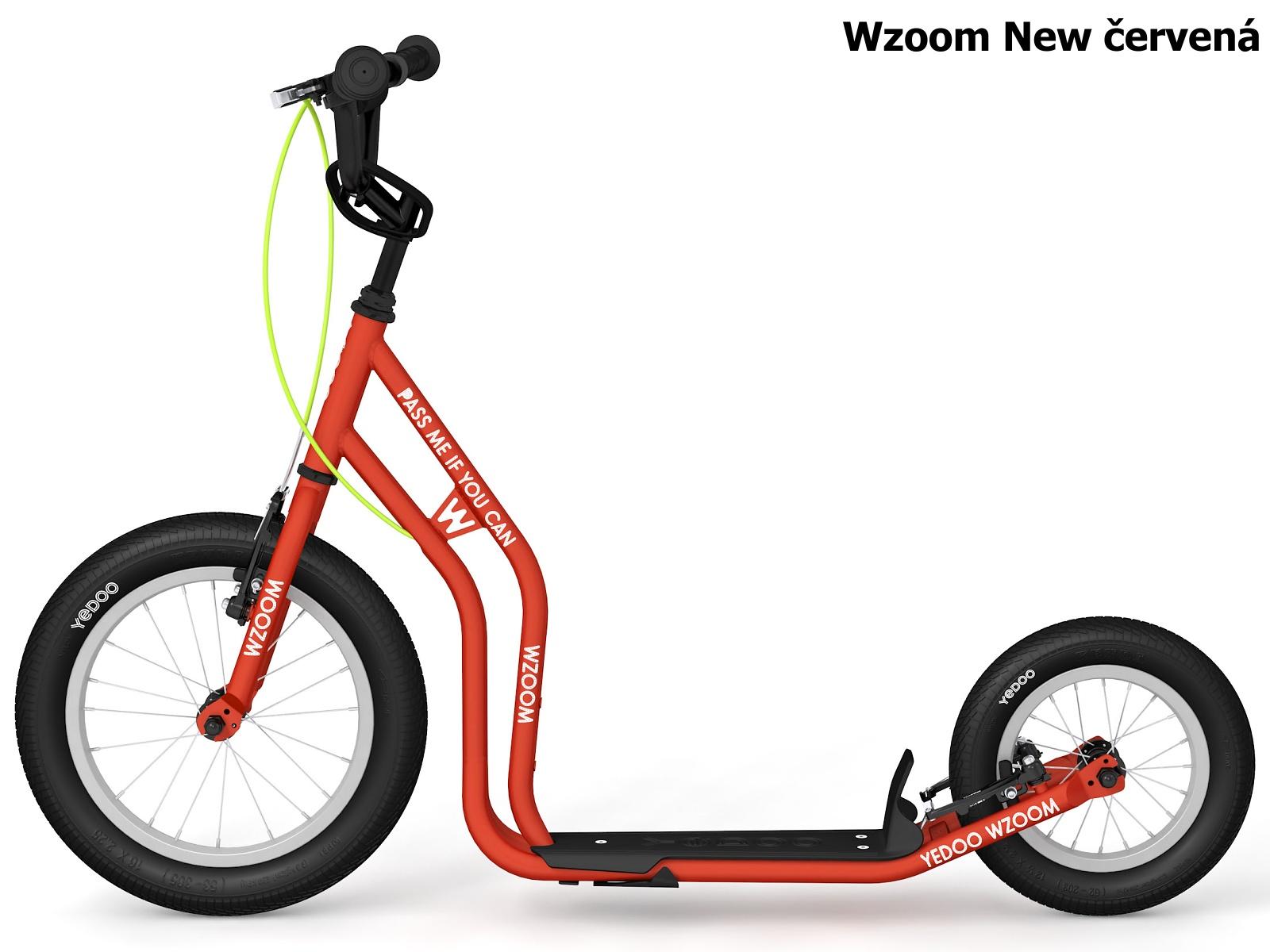Koloběžka YEDOO Wzoom New 16-12 červená