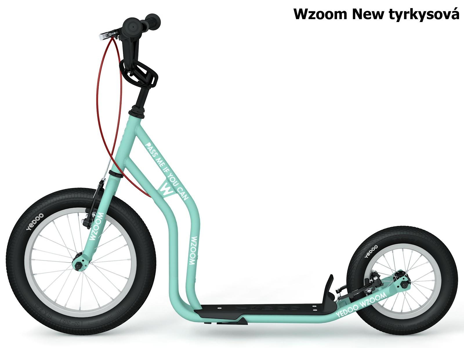 Koloběžka YEDOO Wzoom New 16-12 tyrkysová