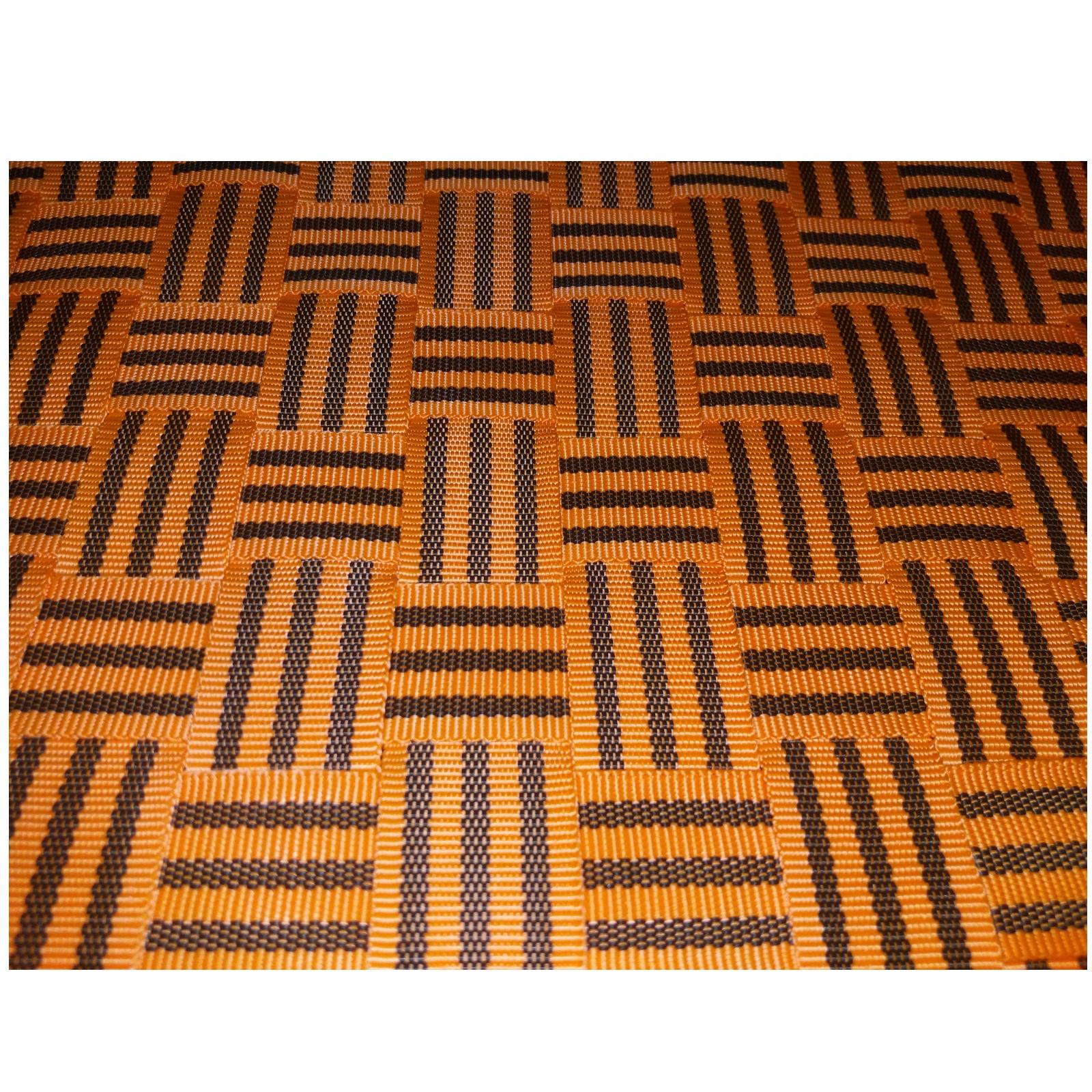 Sáně dřevěné LION BOHEMIA rohačky délka 110 cm - oranžové
