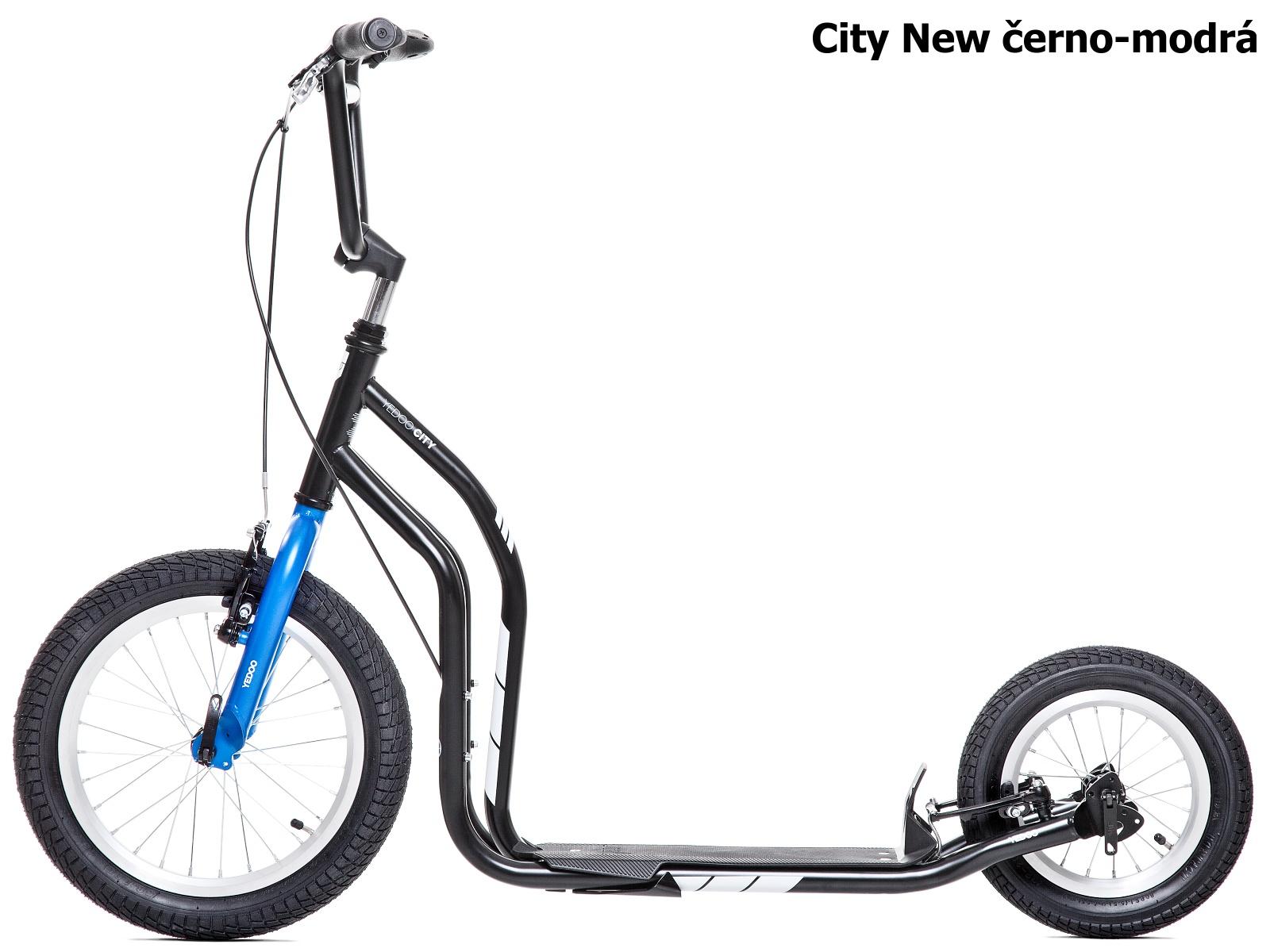 Koloběžka YEDOO City New 16-12 černo-modrá