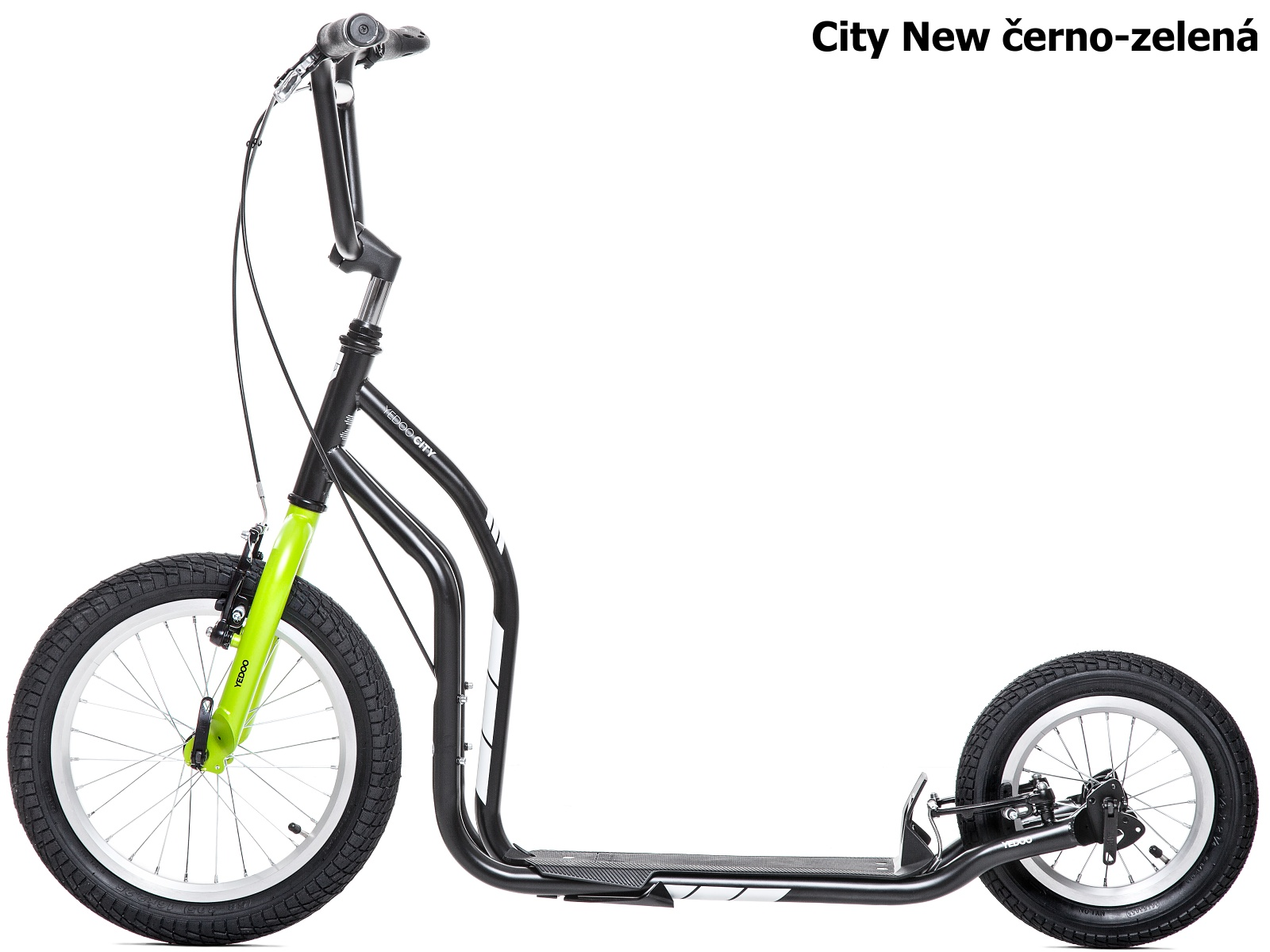 Koloběžka YEDOO City New 16-12 černo-zelená
