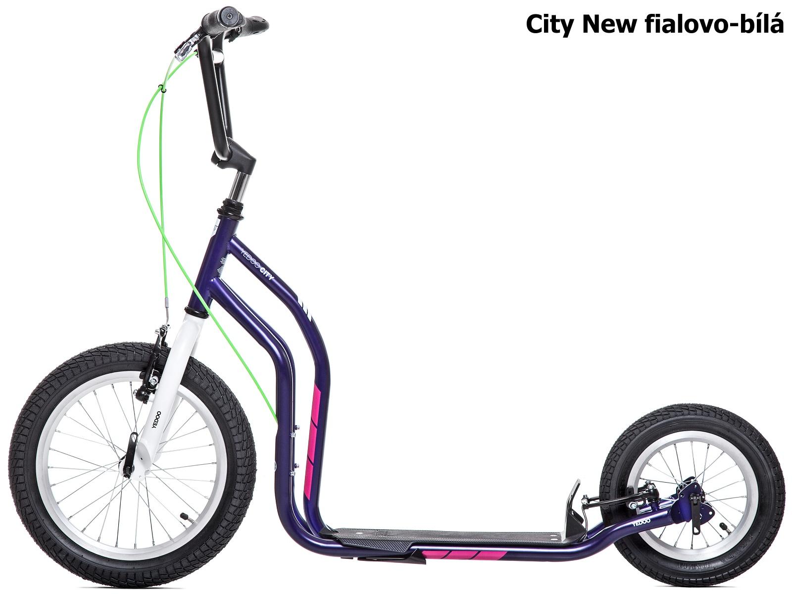 Koloběžka YEDOO City New 16-12 fialovo-bílá