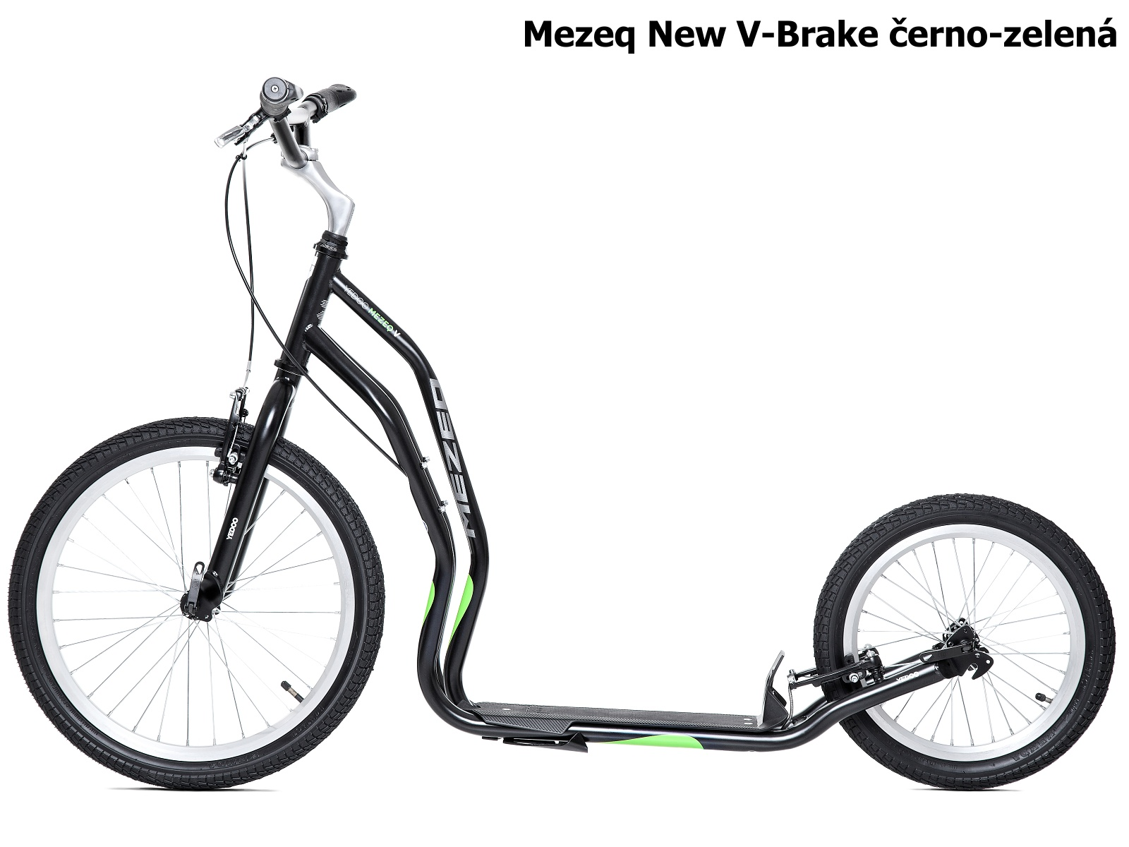 Koloběžka YEDOO Mezeq New V-Brake 20-16 černo-zelená