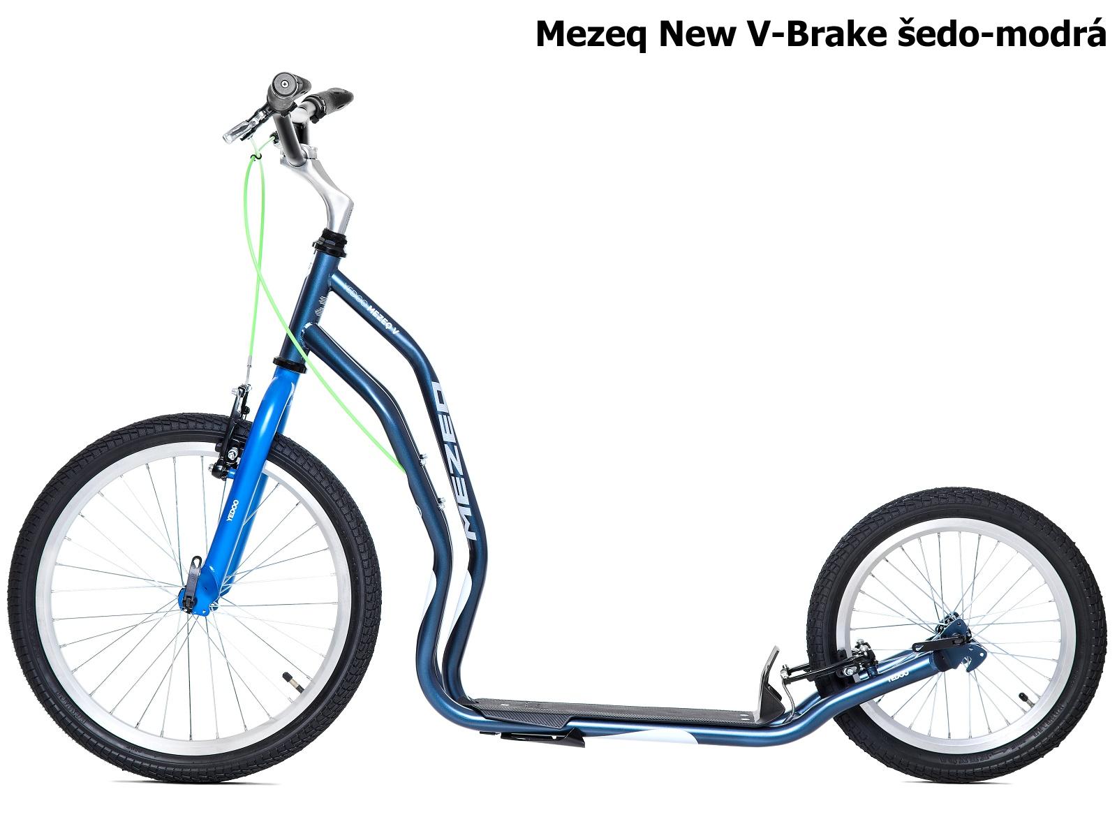 Koloběžka YEDOO Mezeq New V-Brake 20-16 šedo-modrá
