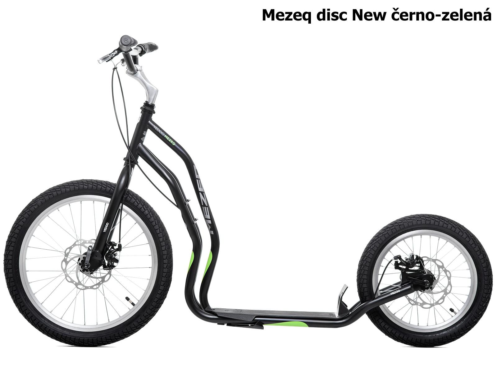 Koloběžka YEDOO Mezeq disc New 20-16 černo-zelená