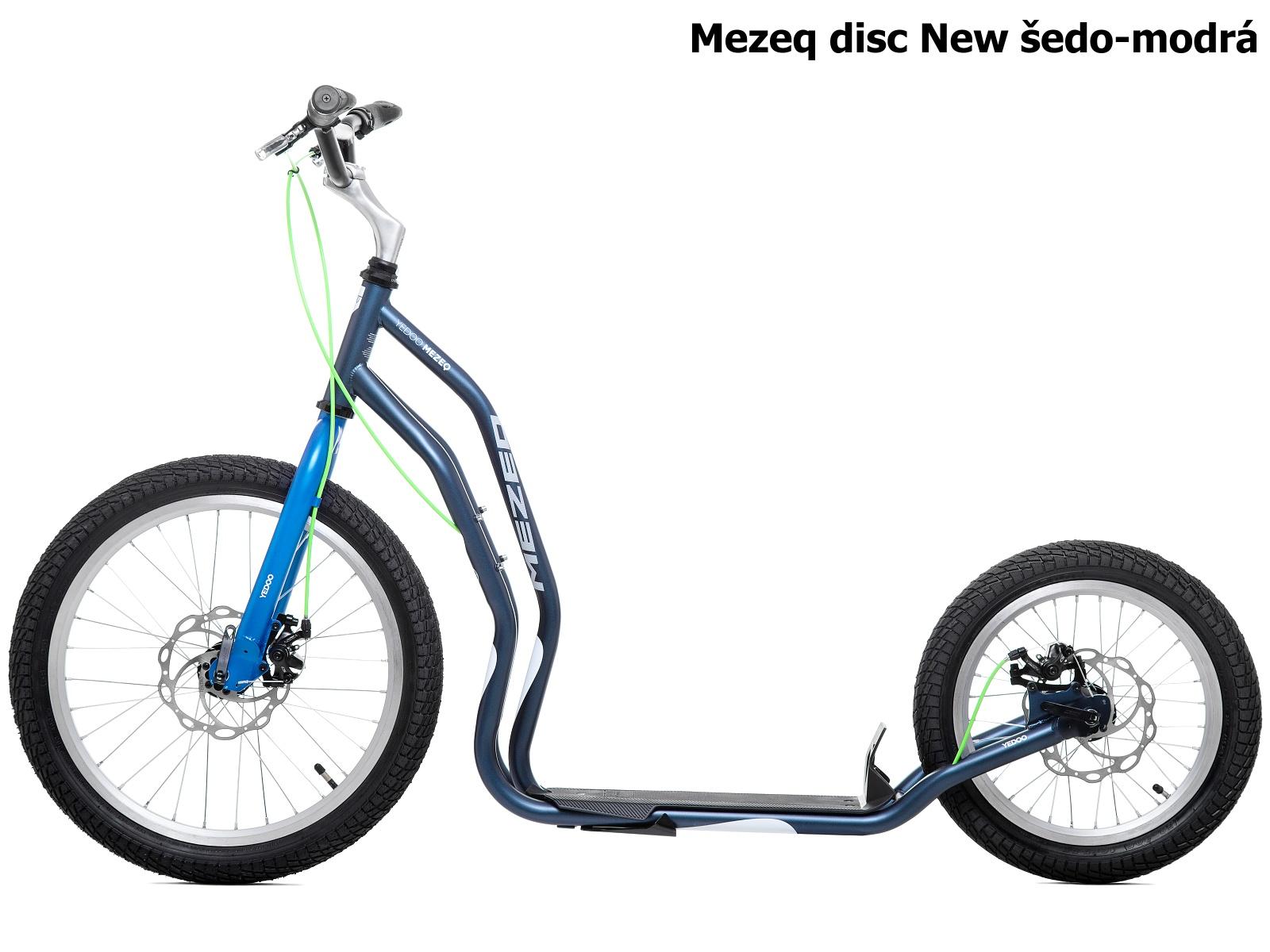 Koloběžka YEDOO Mezeq disc New 20-16 šedo-modrá