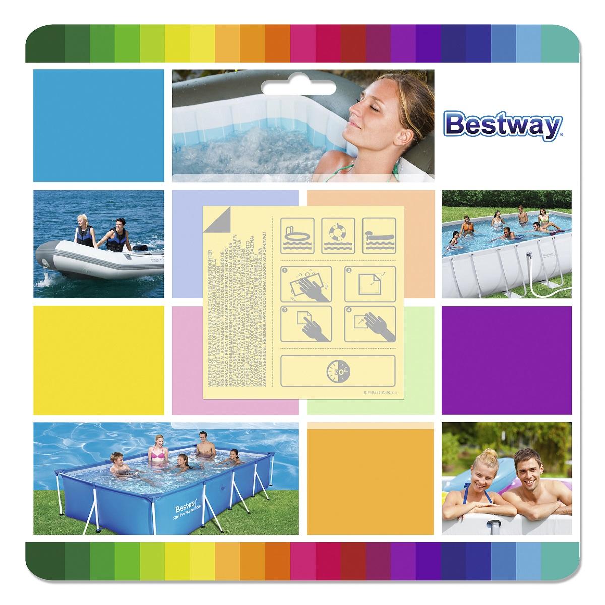 Samolepící záplaty na čluny a bazény BESTWAY