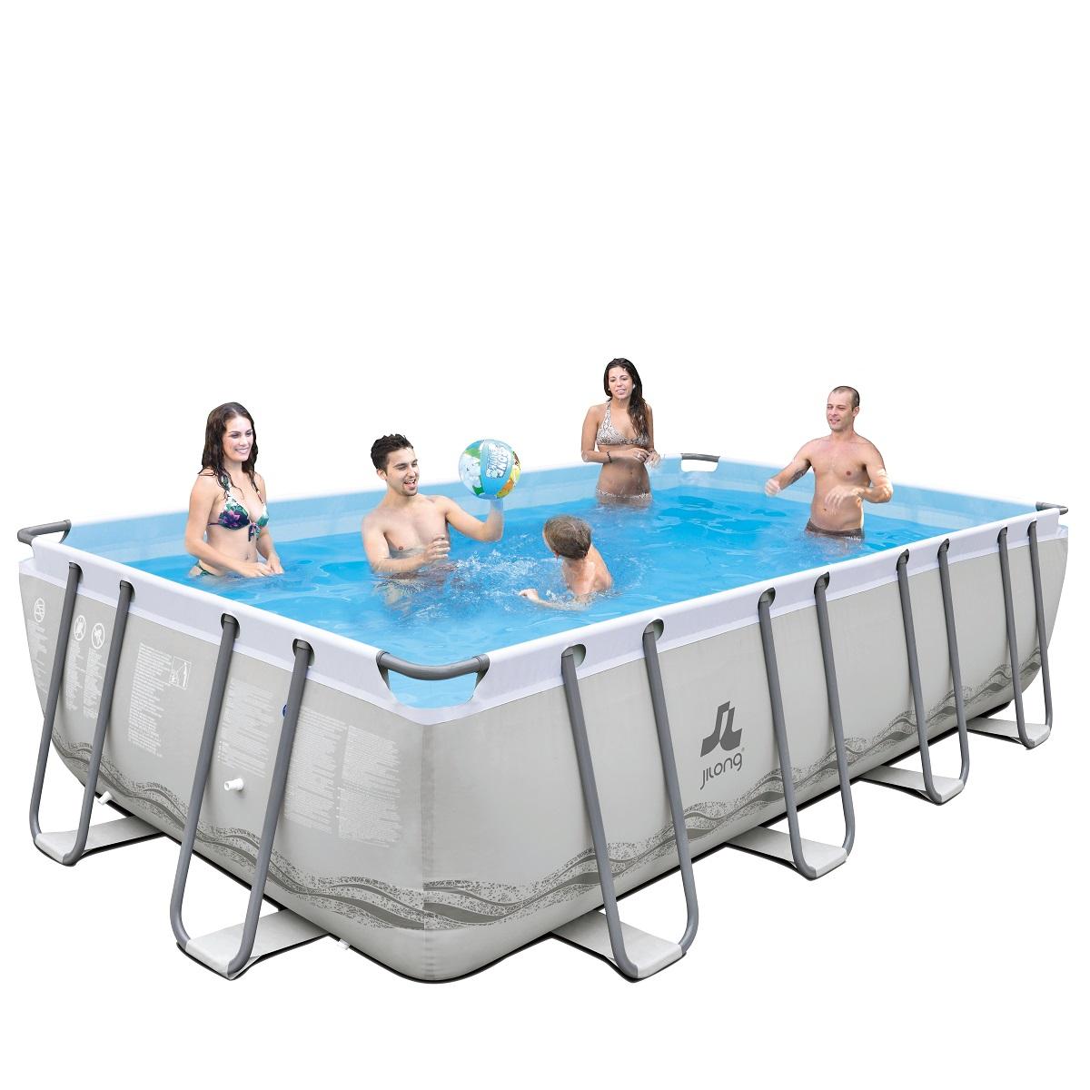 Bazén s pevnou stěnou Mistal Grey 549 x 305 x 122 cm set s pískovou filtrací