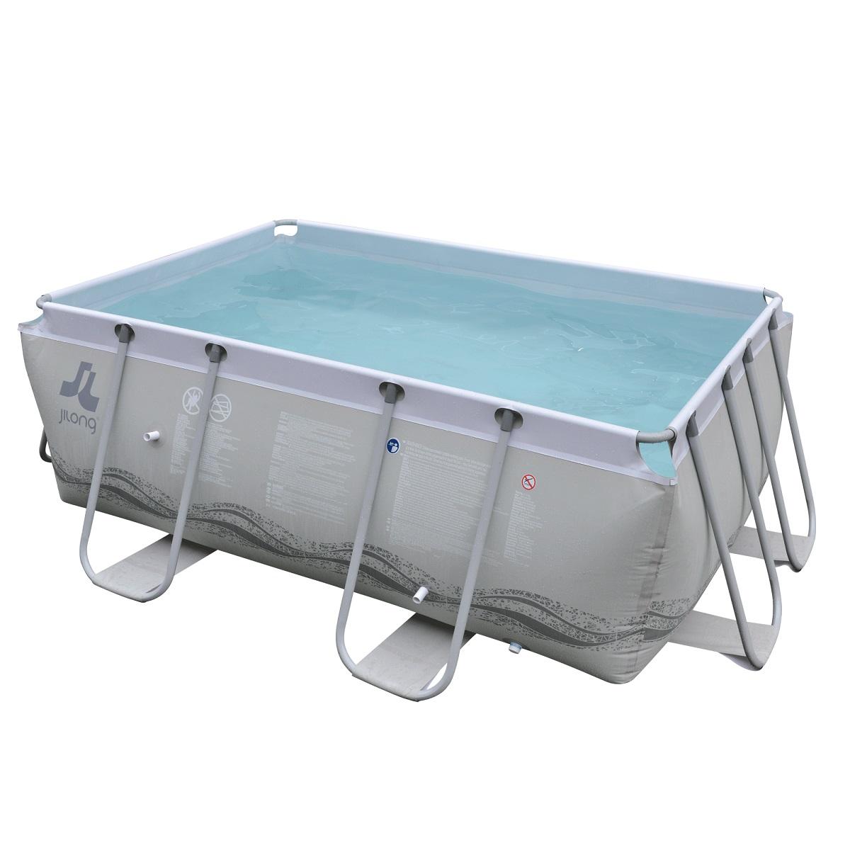 Bazén s pevnou stěnou Passaat Grey 295 x 200 x 100 cm s kartušovou filtrací