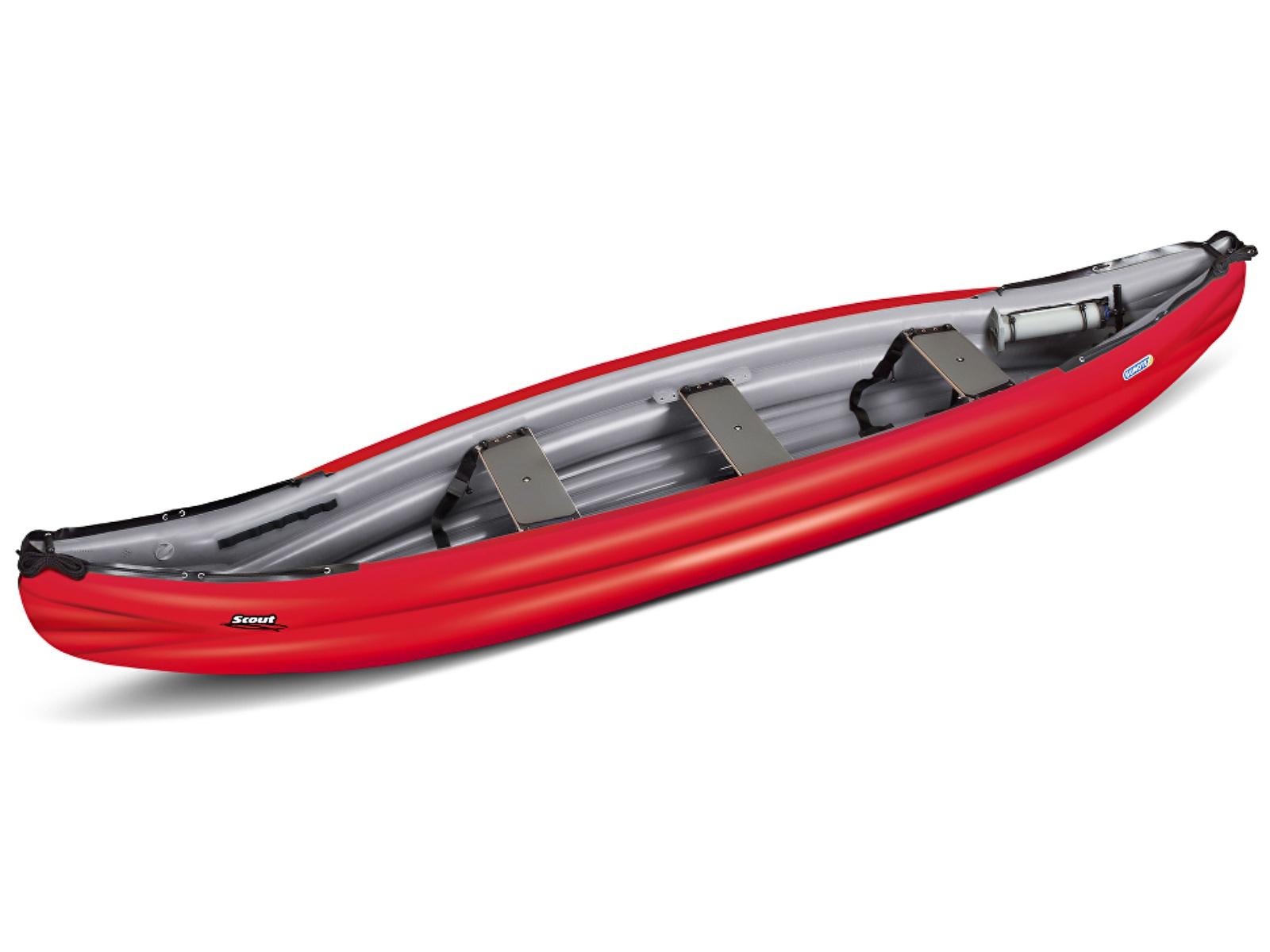 Nafukovací kanoe GUMOTEX Scout Standard červeno-šedá