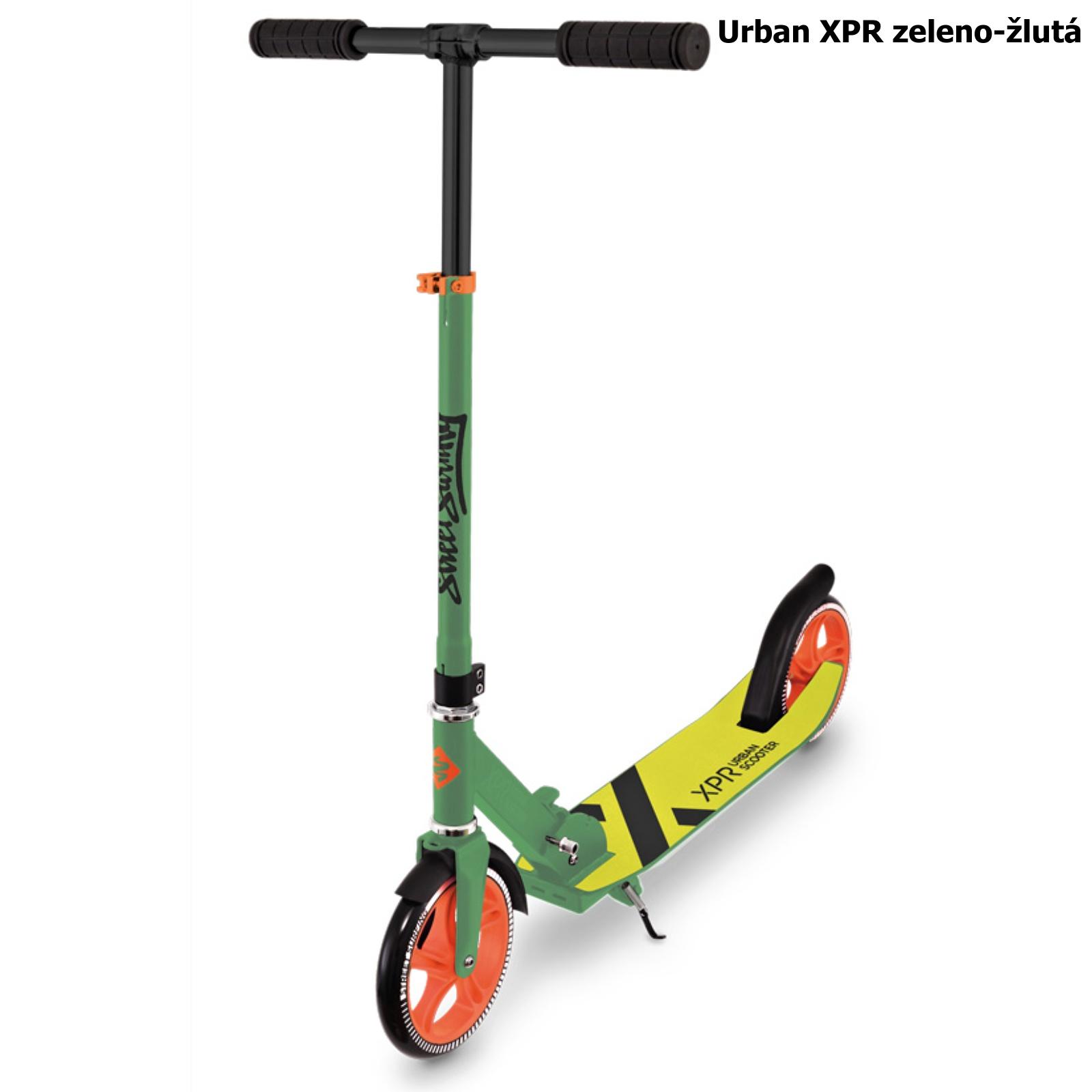 Koloběžka STREET SURFING Urban XPR - zeleno-žlutá