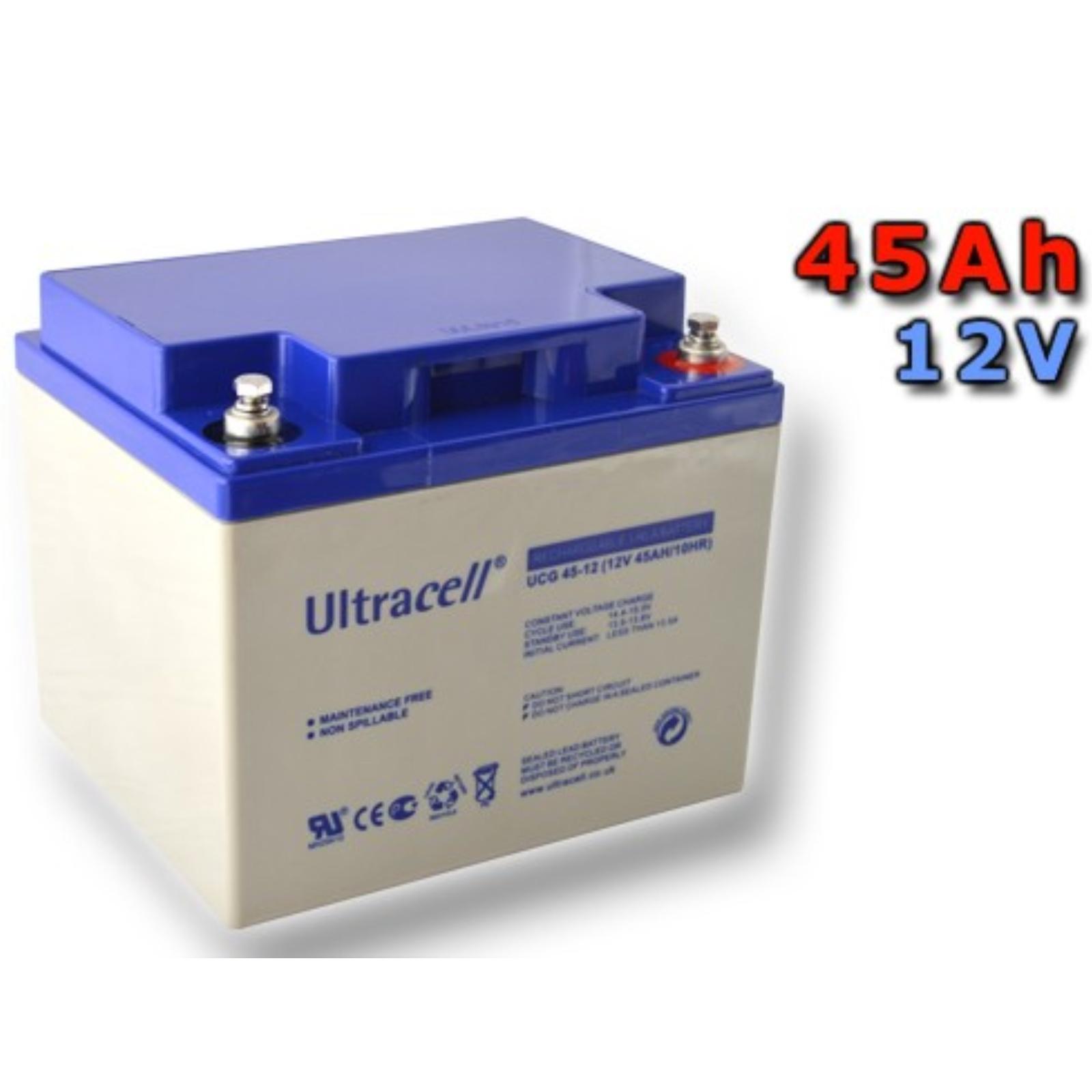 Trakční gelová baterie ULTRACELL UCG45-12 45Ah