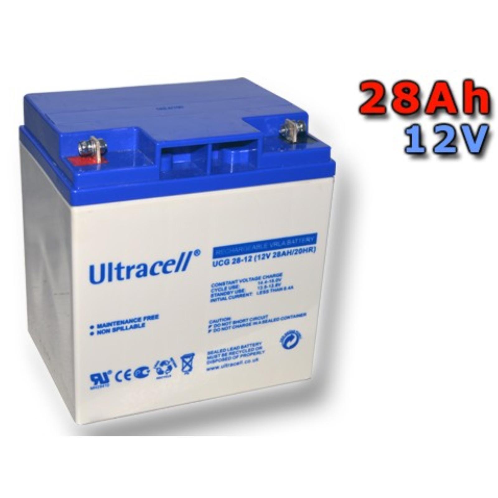 Trakční gelová baterie ULTRACELL UCG28-12 28Ah