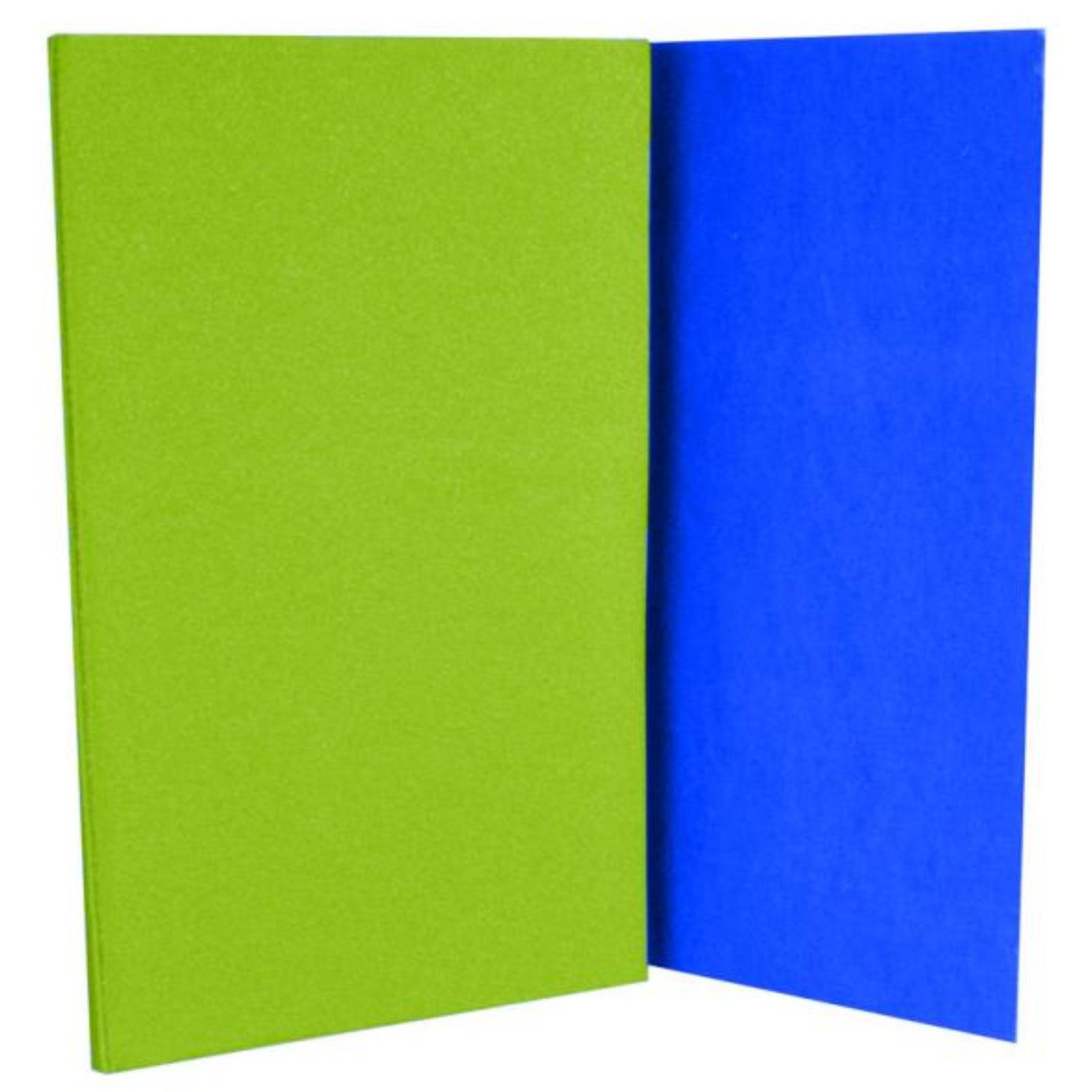 Karimatka skládací s folií - zeleno-modrá