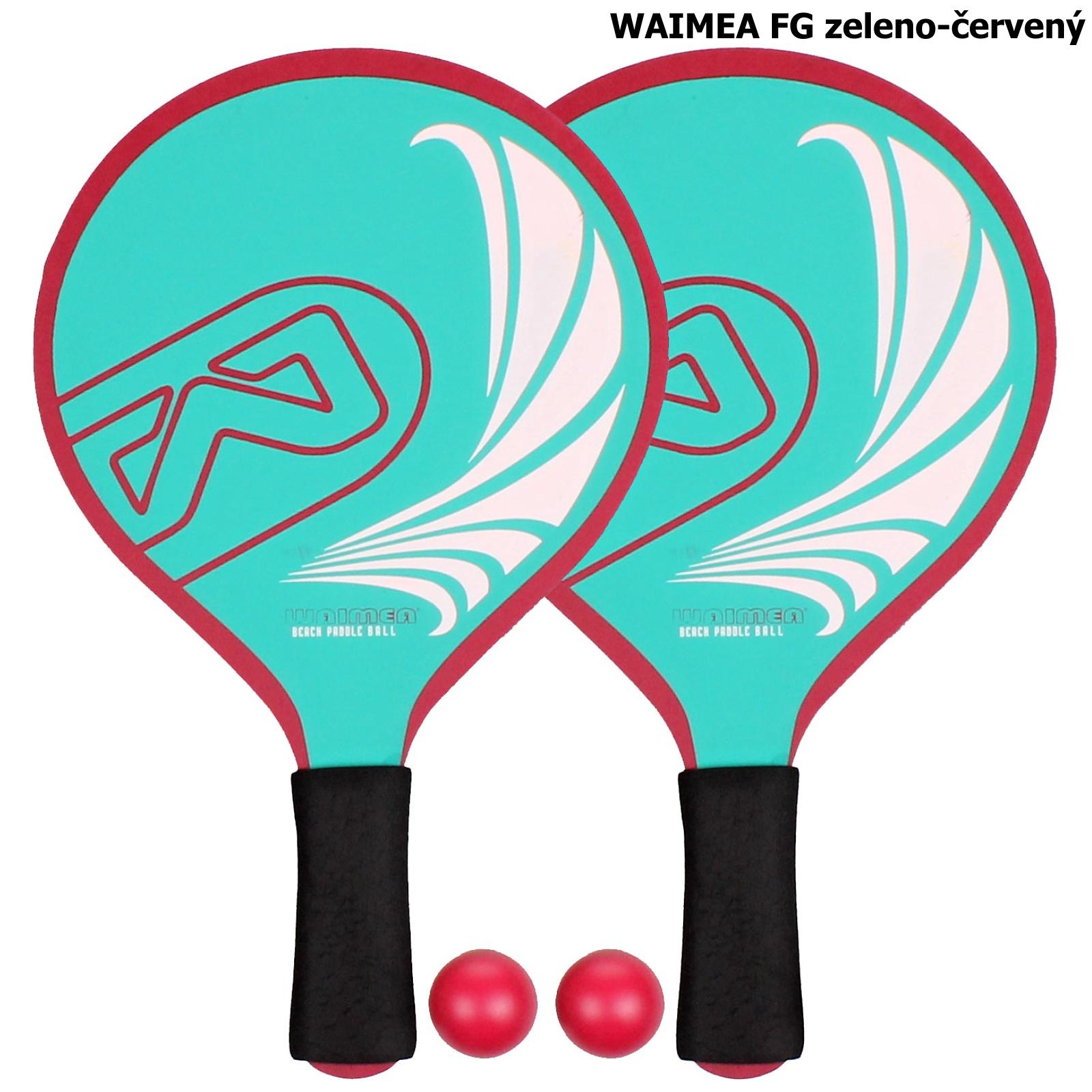 Plážový tenis WAIMEA FG - zeleno-červený