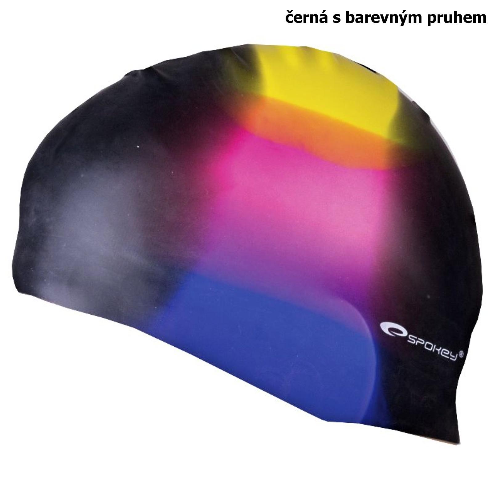 Plavecká čepice SPOKEY Abstract - černo-barevná