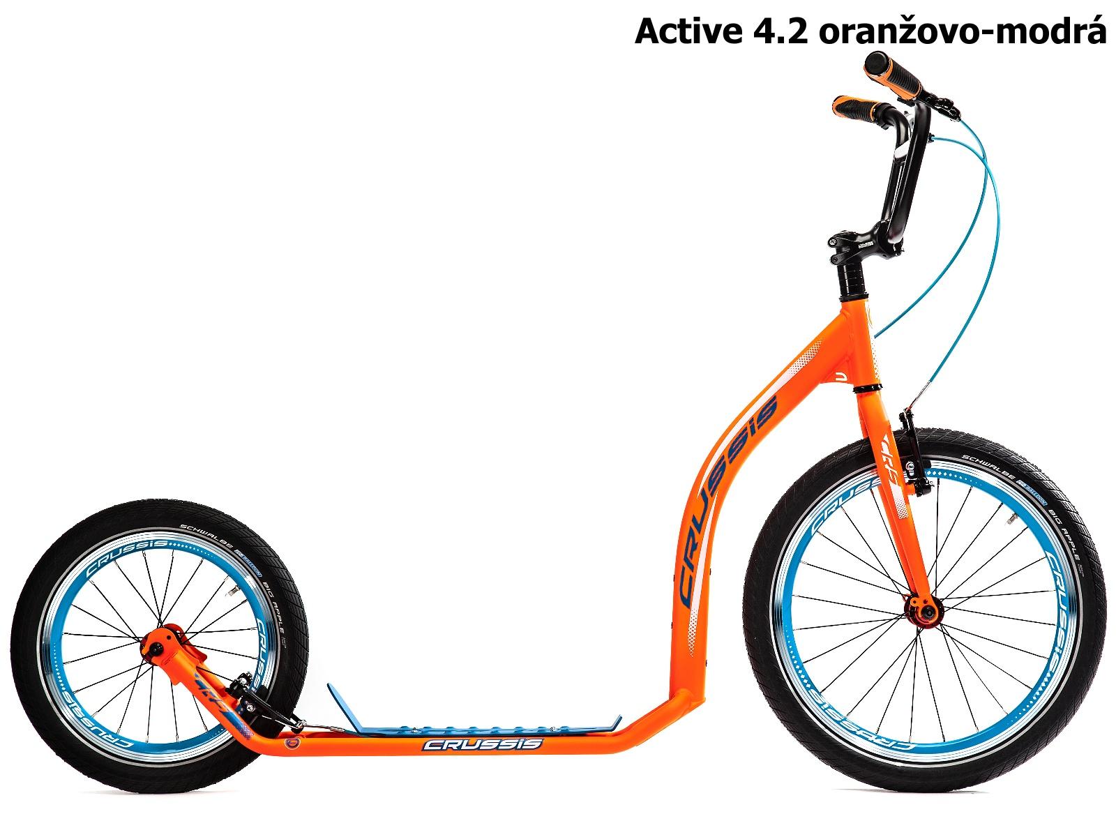 Koloběžka CRUSSIS Active 4.2 oranžovo-modrá