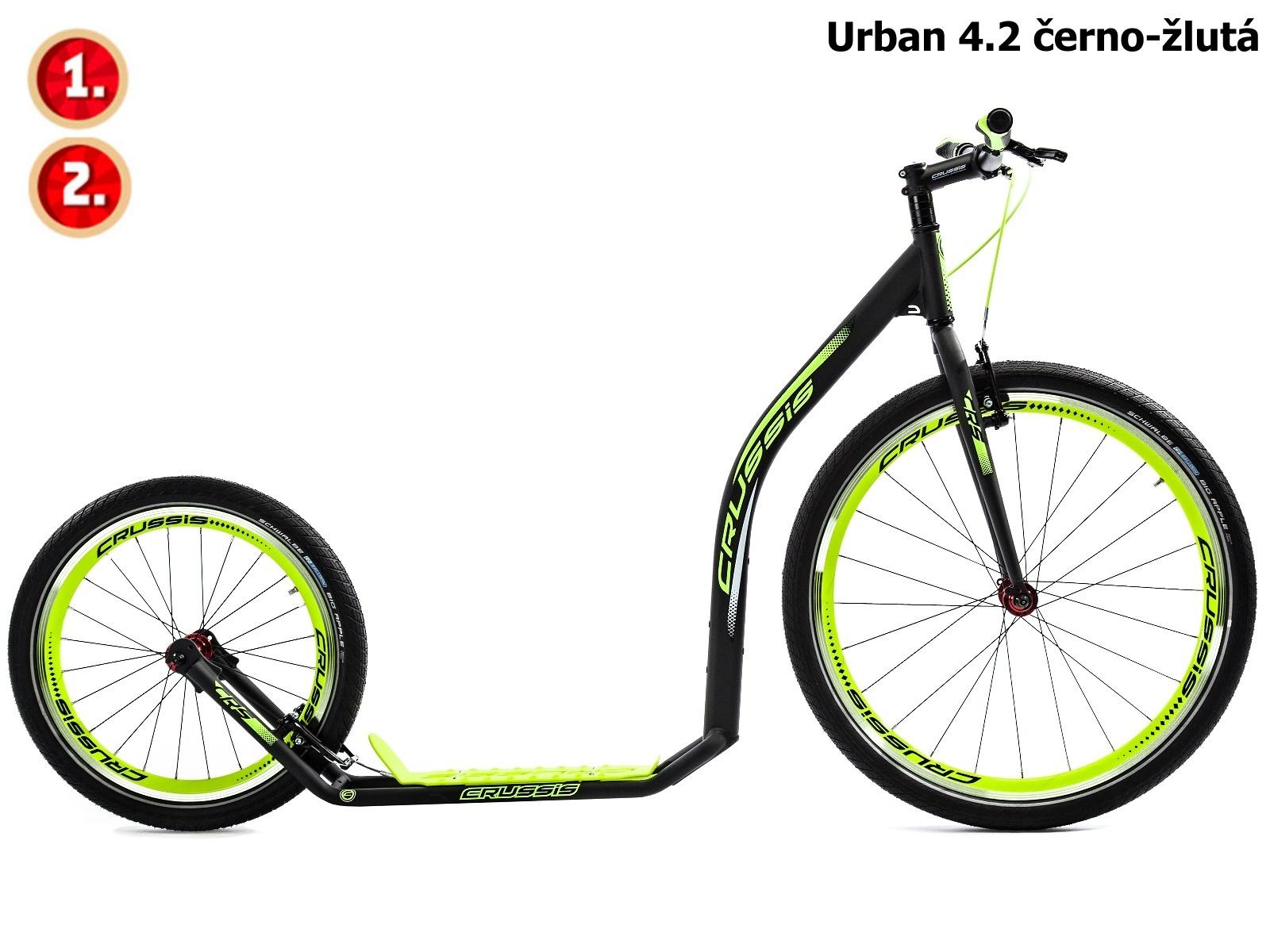Koloběžka CRUSSIS Urban 4.2 černo-žlutá