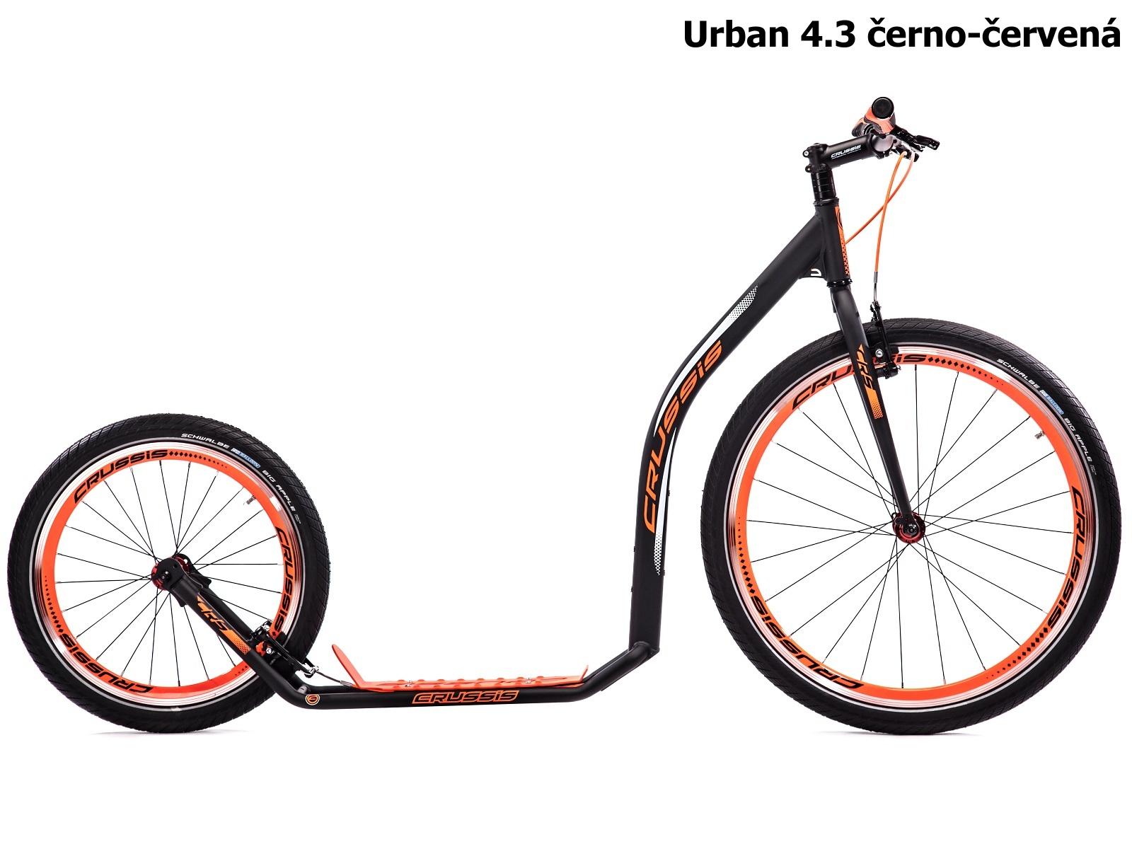 Koloběžka CRUSSIS Urban 4.3 černo-červená