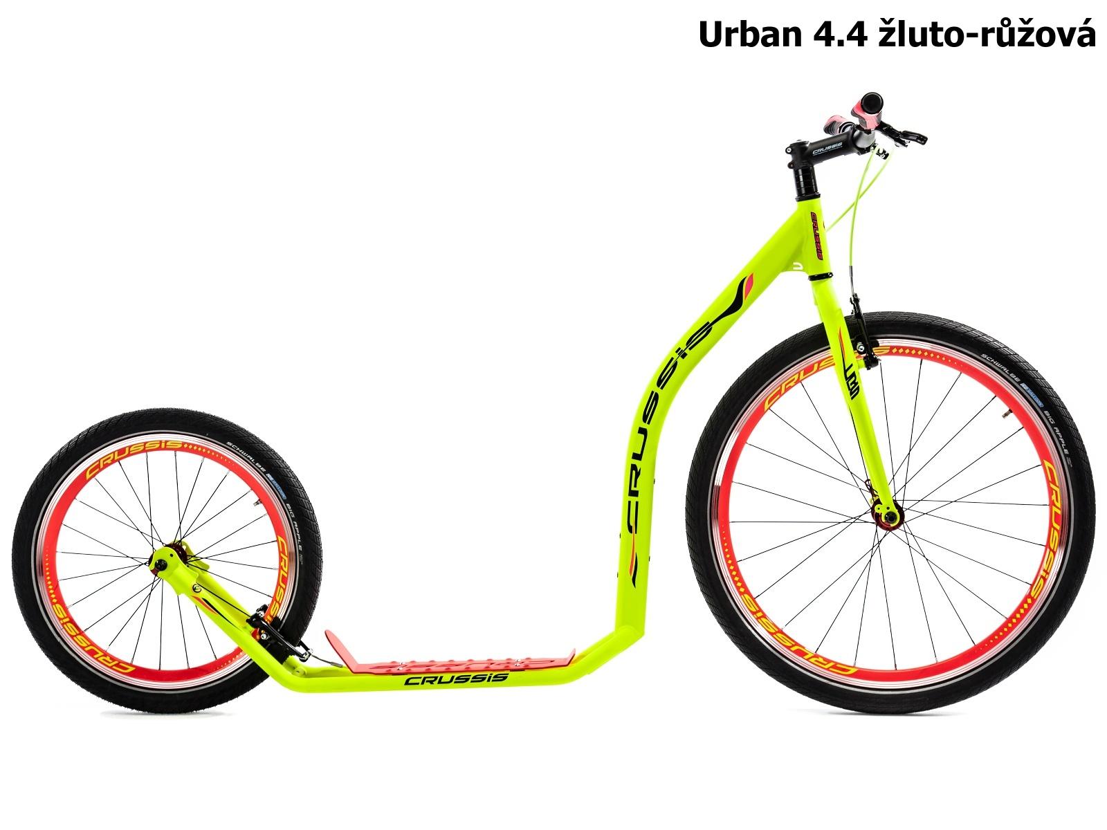 Koloběžka CRUSSIS Urban 4.4 žluto-růžová