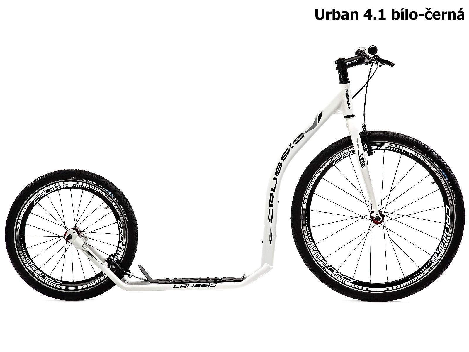 Koloběžka CRUSSIS Urban 4.1 bílo-černá