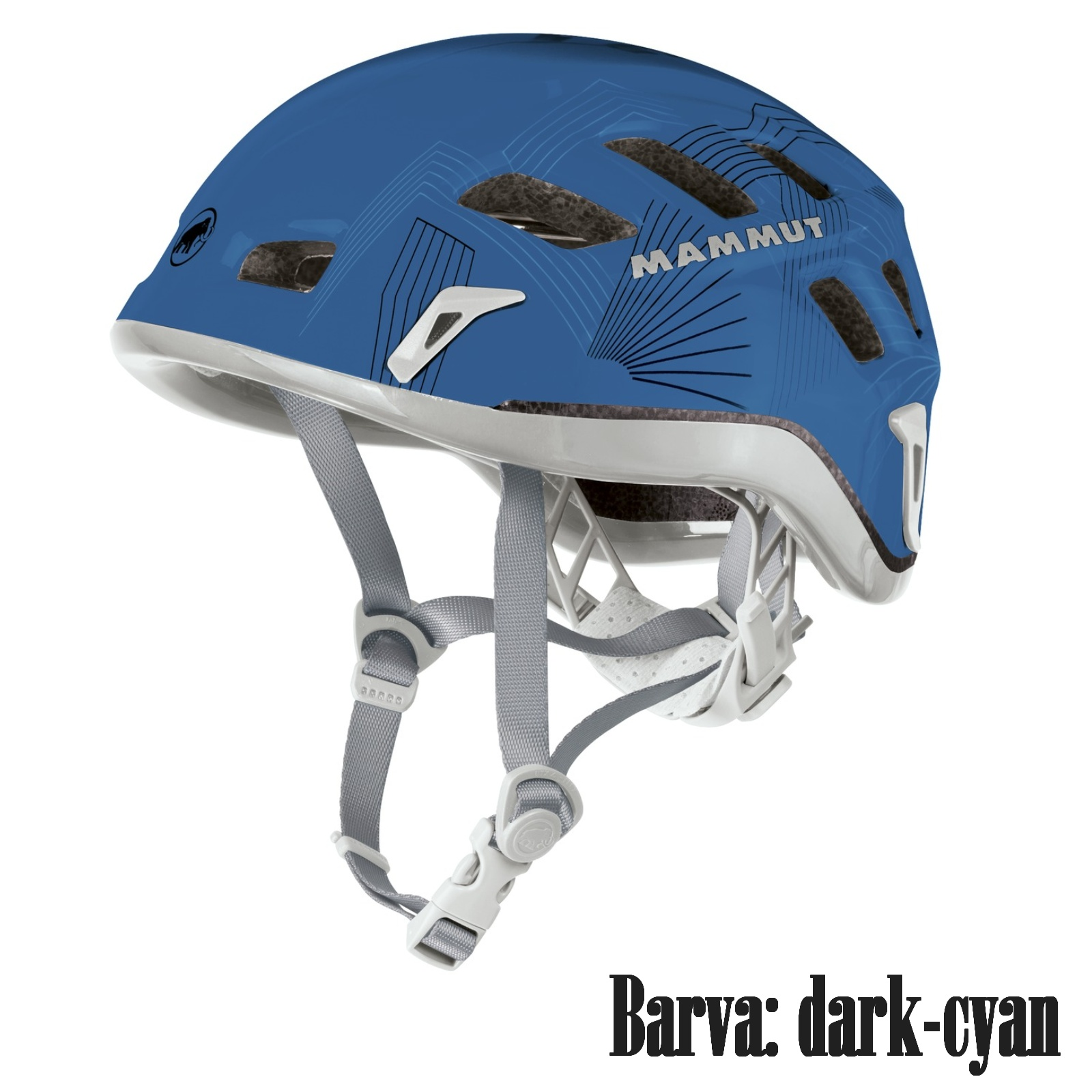 Horolezecká přilba MAMMUT Rock Rider dark cyan - vel. 56-61 cm
