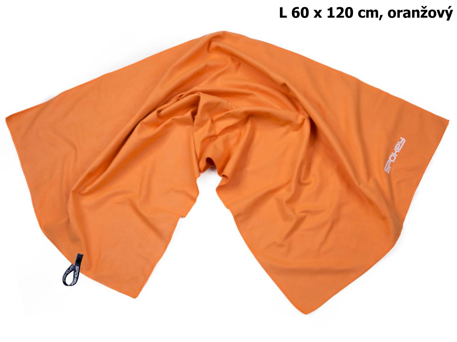 Rychleschnoucí ručník SPOKEY Sirocco L 60 x 120 cm, oranžový