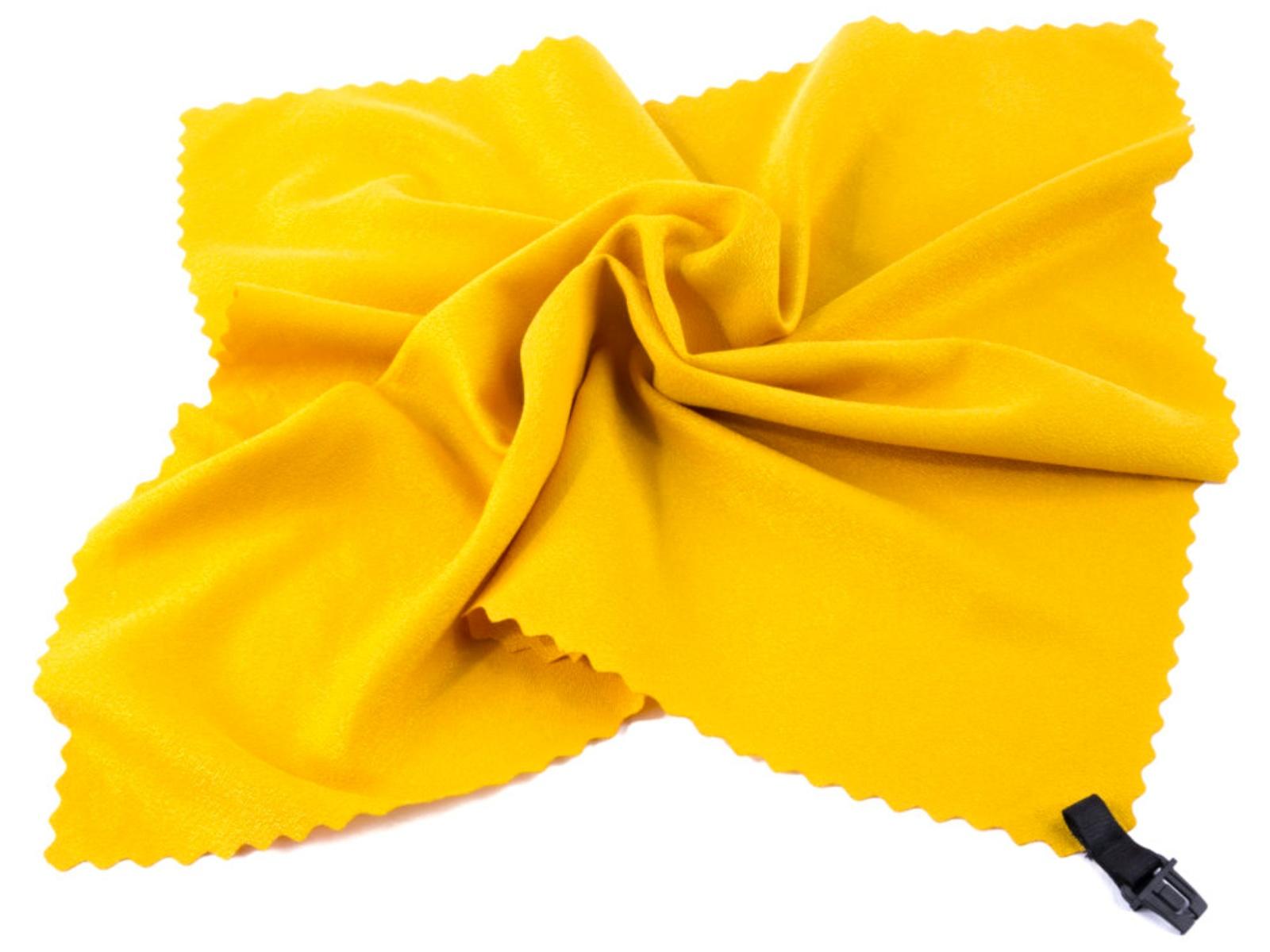 Rychleschnoucí ručník SPOKEY Nemo 40 x 40 cm, žlutý s karabinou