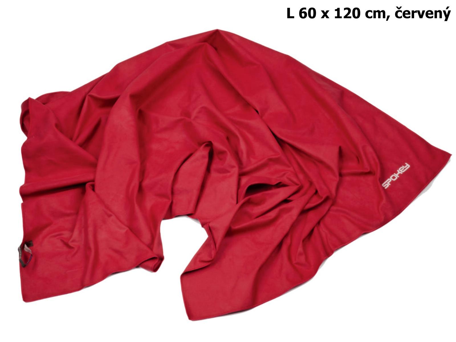 Rychleschnoucí ručník SPOKEY Sirocco L 60 x 120 cm, červený