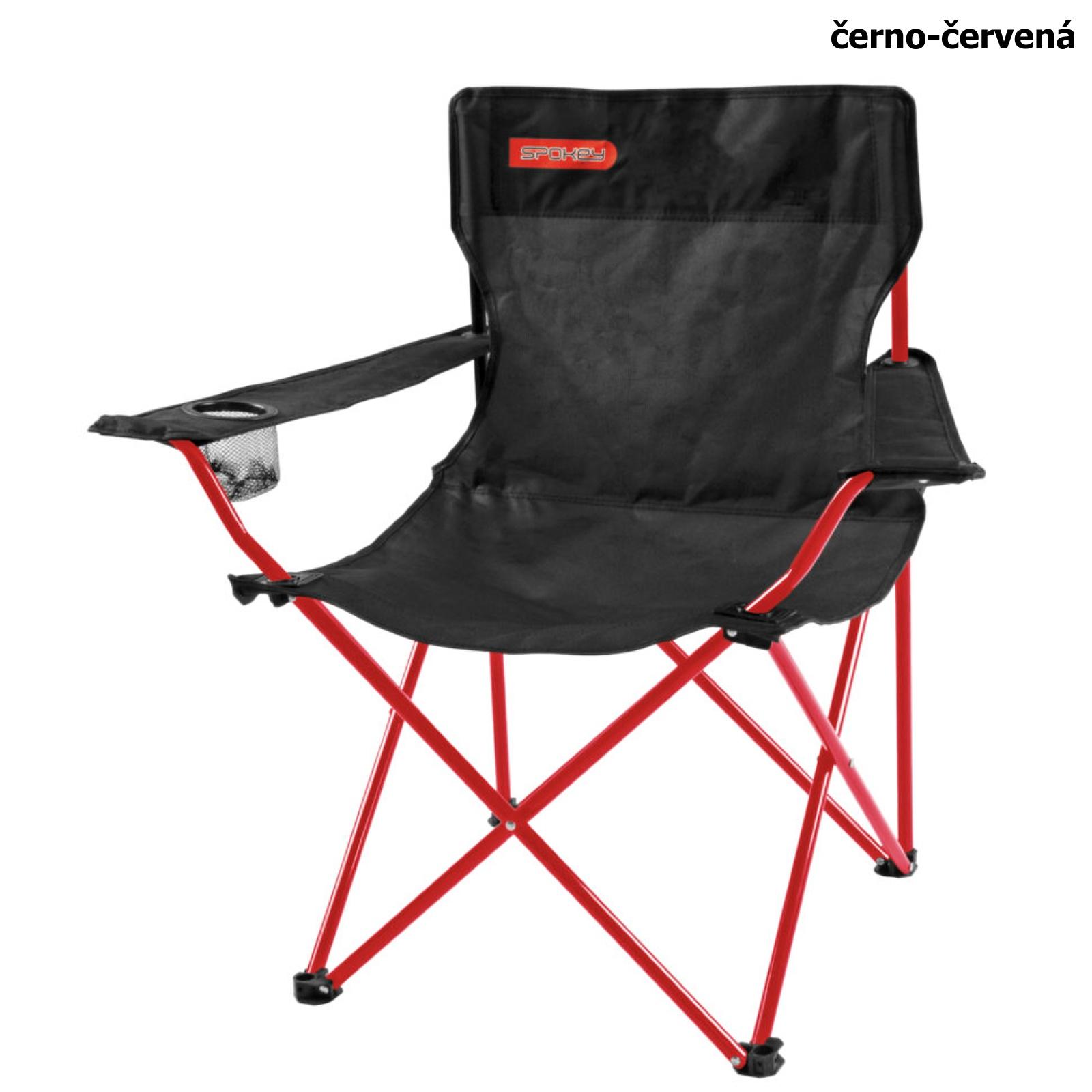 Turistická židle SPOKEY Angler černo-červená