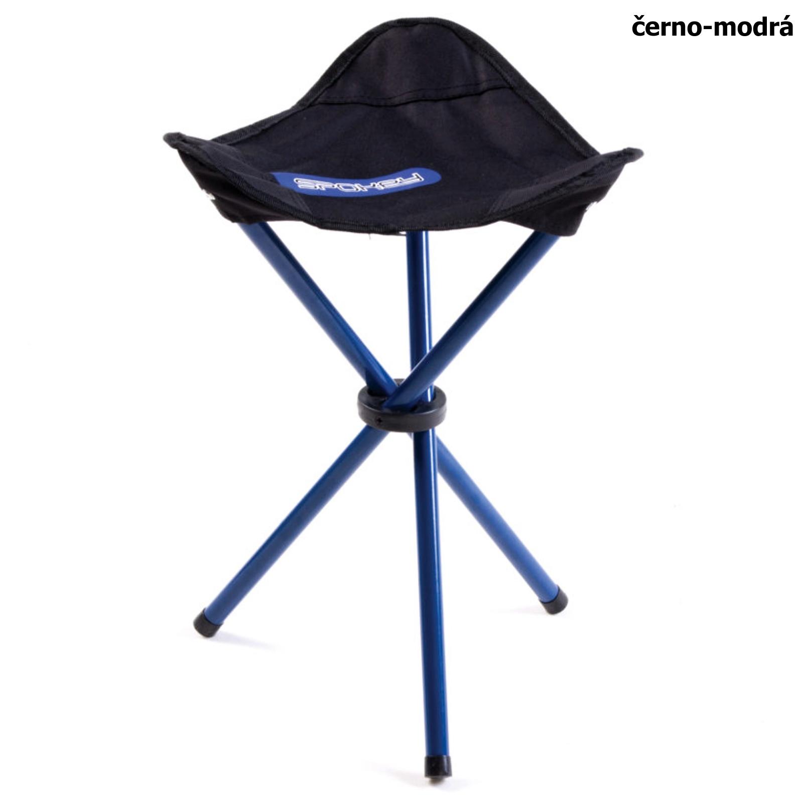 Turistická židle SPOKEY Pathook černo-modrá