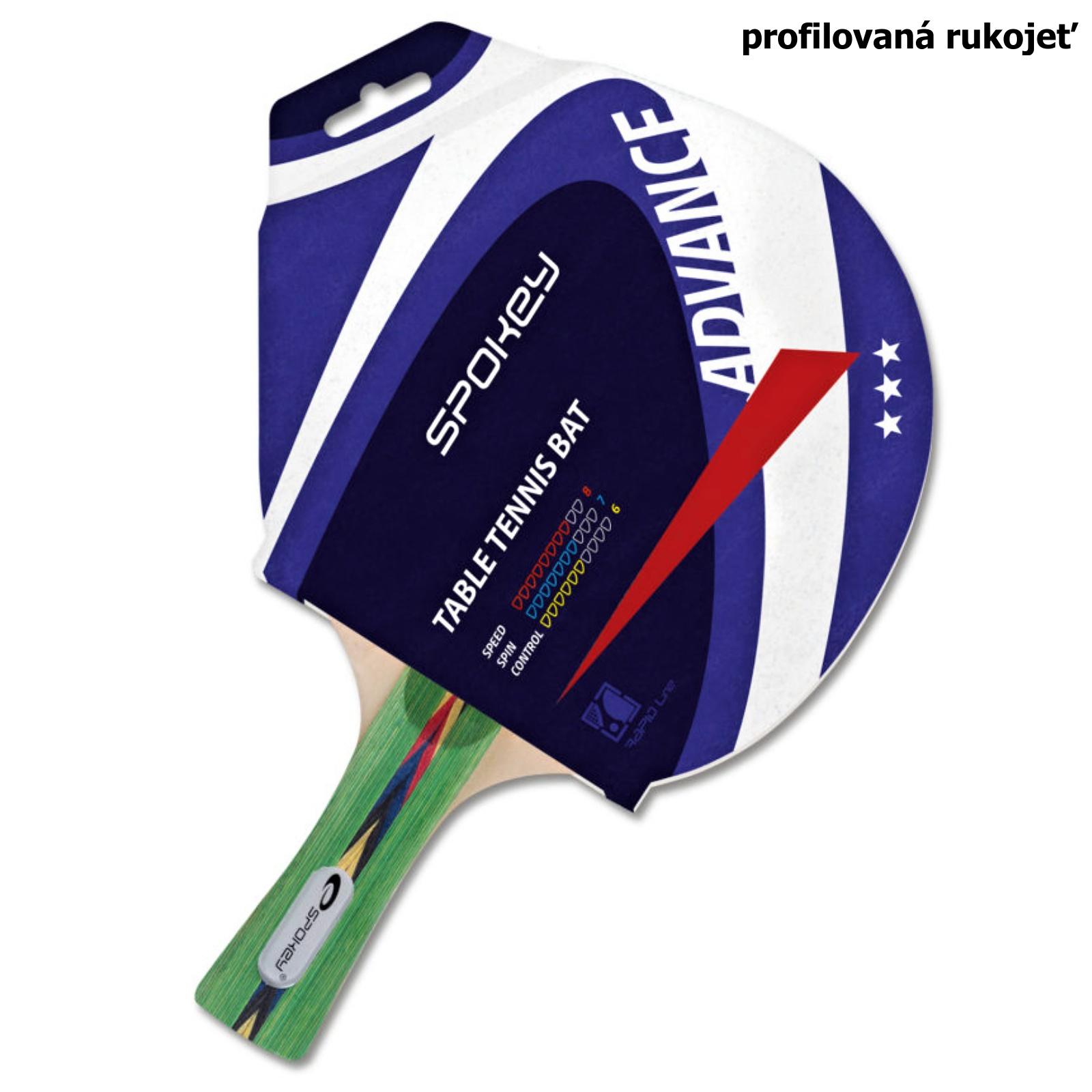 Pálka na stolní tenis SPOKEY Advance, profilovaná rukojeť