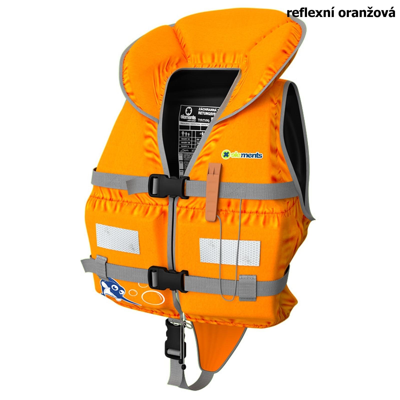 Záchranná vesta ELEMENTS GEAR Baby Plus oranžová - vel. M